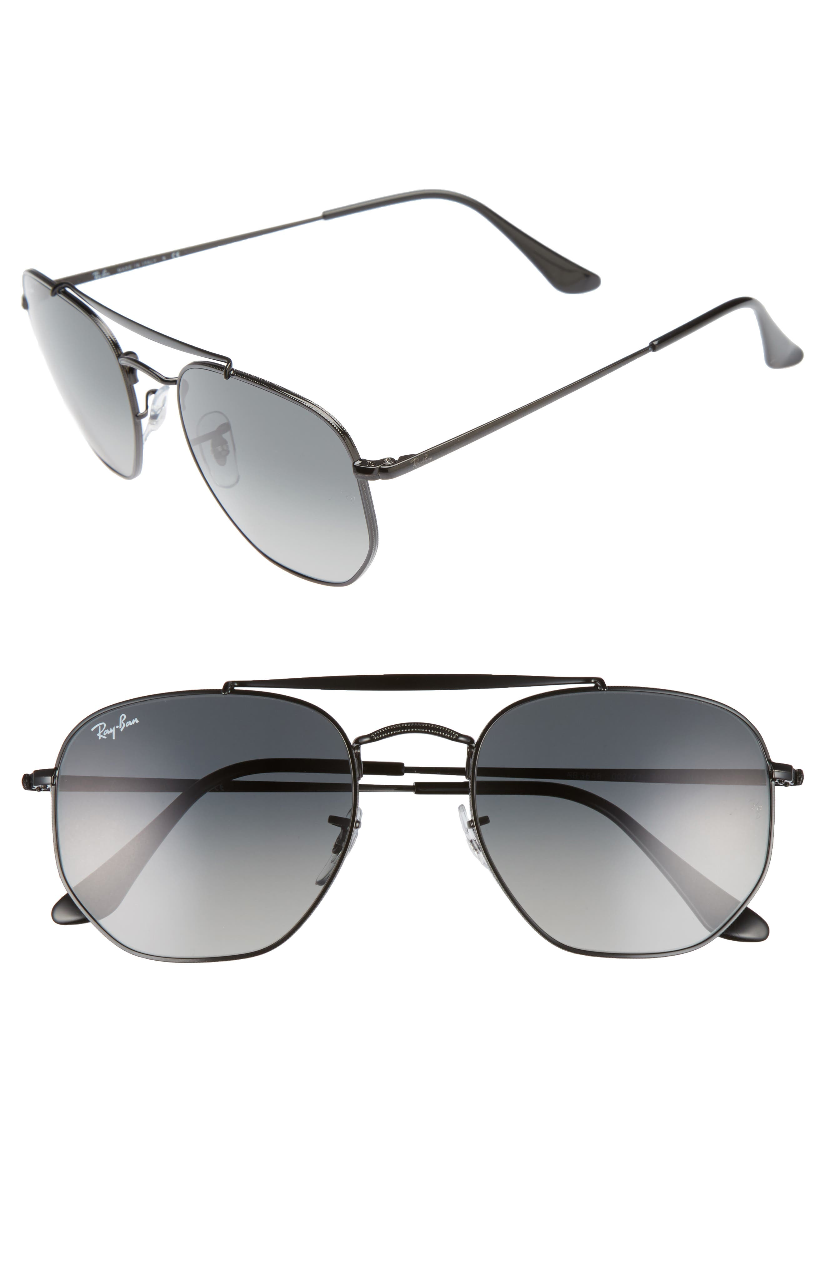 54mm Gradient Sunglasses,                         Main,                         color, 001