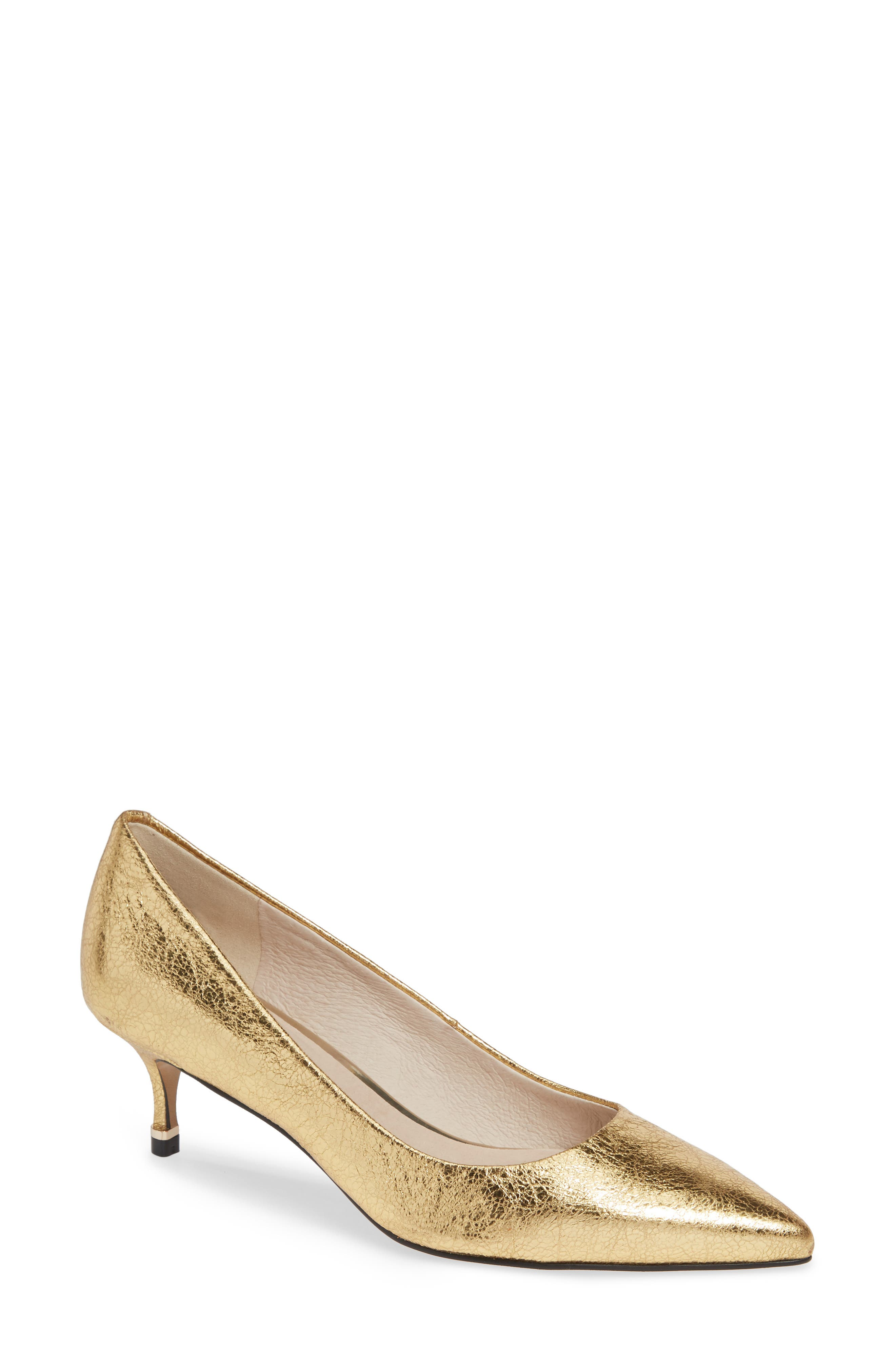 Riley 50 Pump,                             Main thumbnail 1, color,                             YELLOW GOLD LEATHER