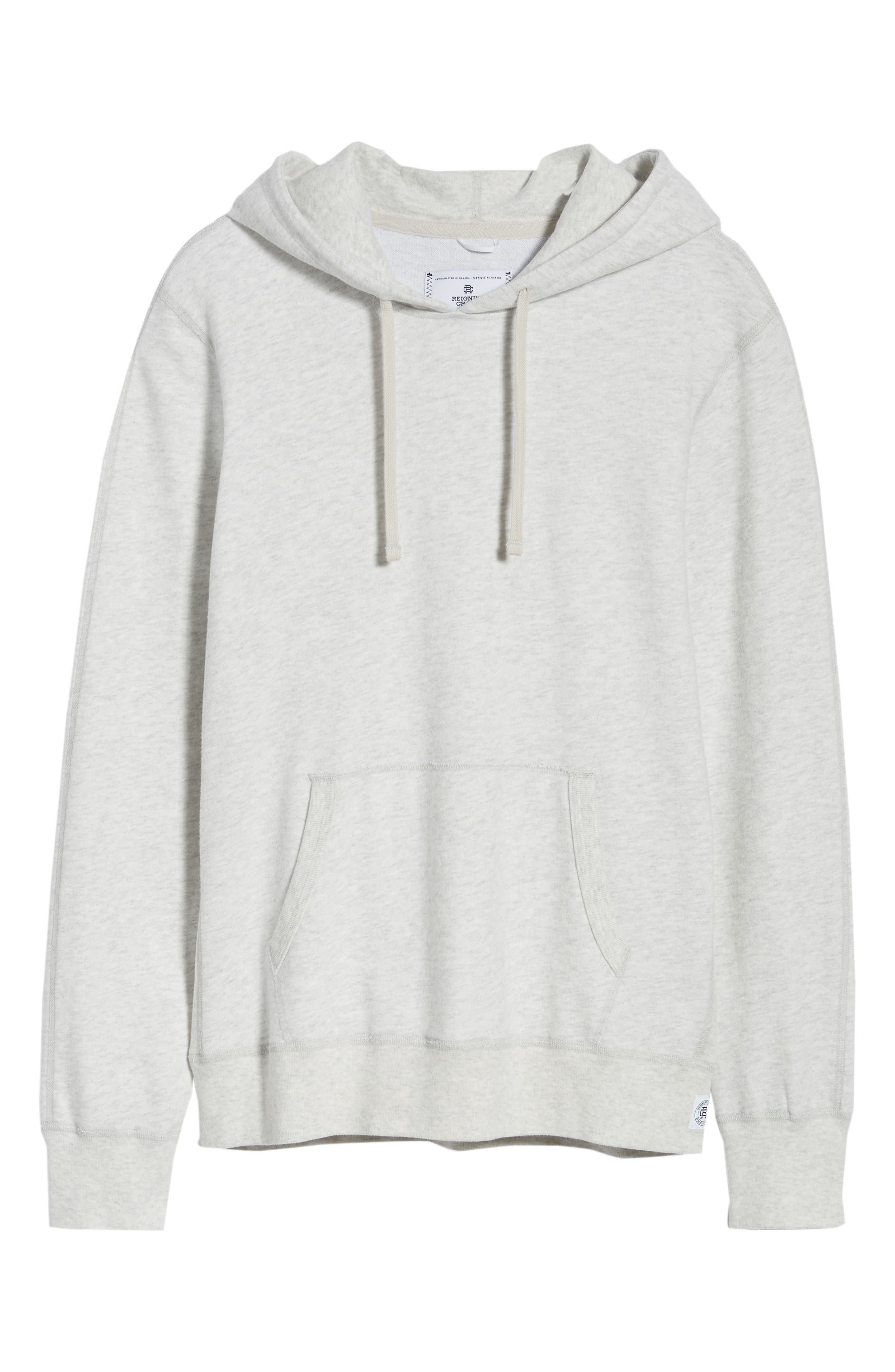 Lightweight Terry Pullover Hoodie,                             Alternate thumbnail 6, color,                             HEATHER ASH