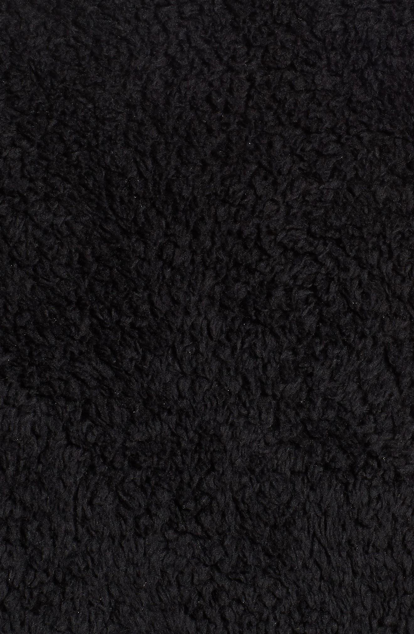 Los Gatos Fleece Vest,                             Alternate thumbnail 7, color,                             BLACK