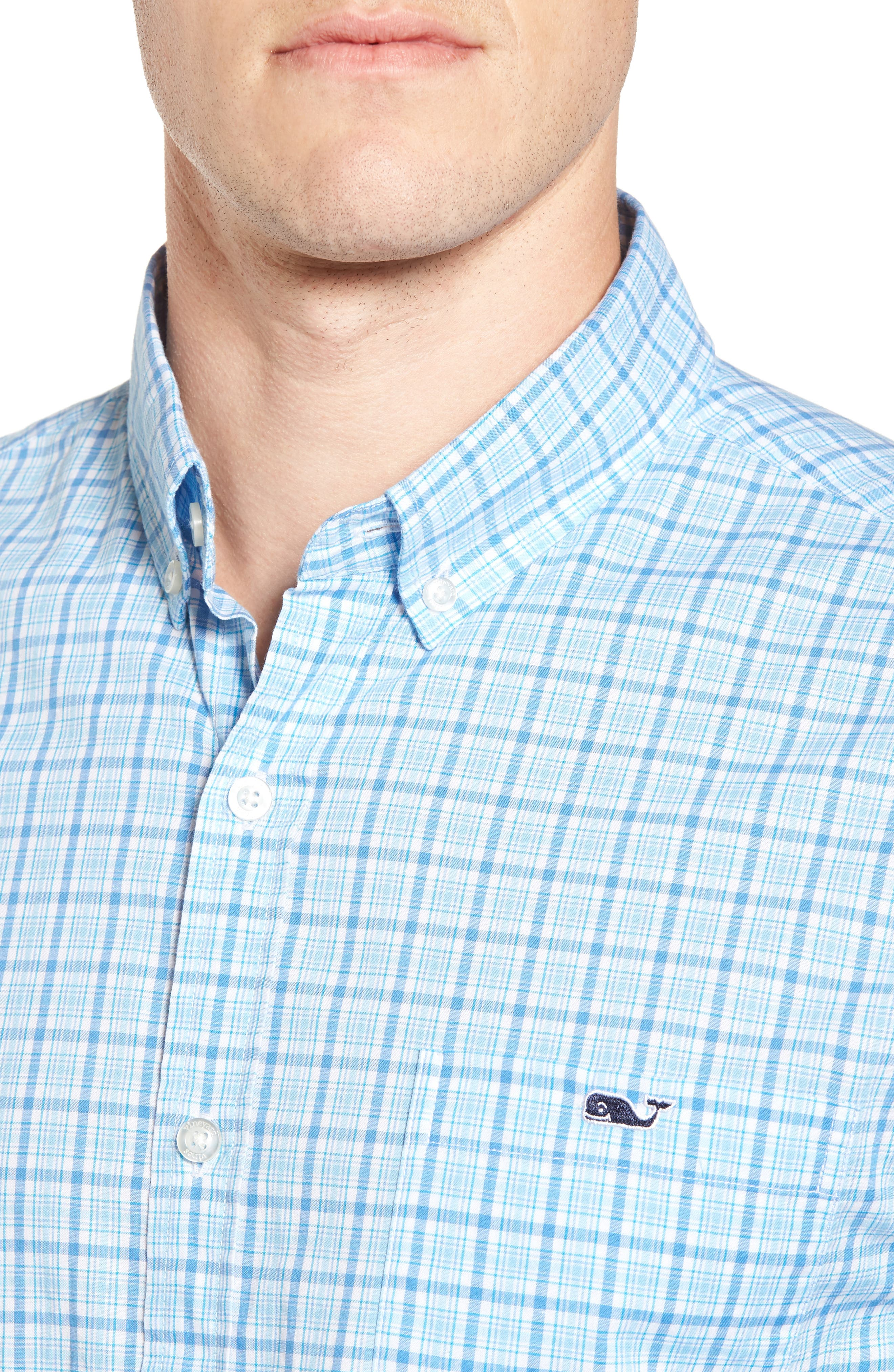 Seawatch Slim Fit Plaid Sport Shirt,                             Alternate thumbnail 4, color,                             459