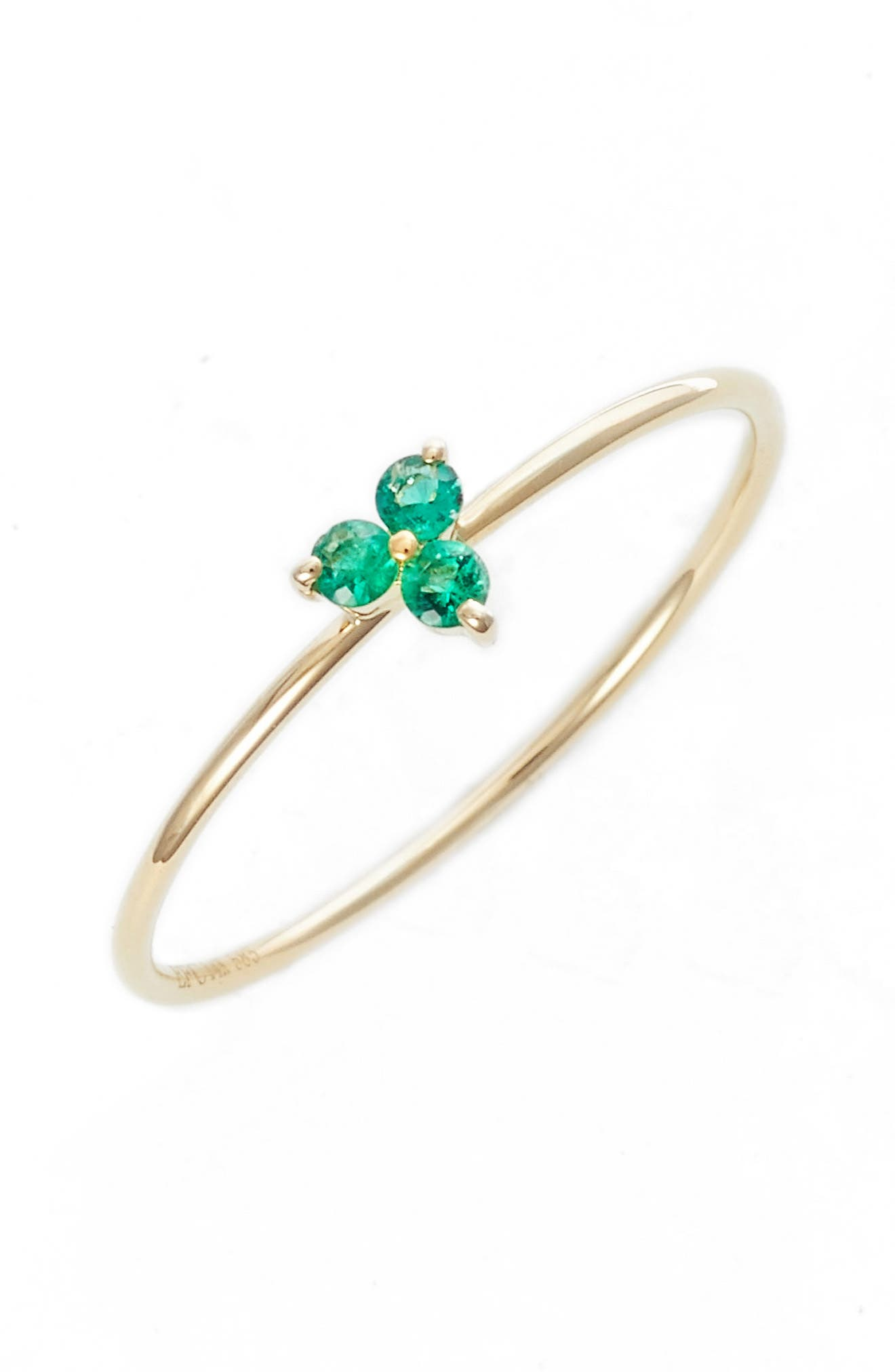 Gemstone Ring,                         Main,                         color, EMERALD