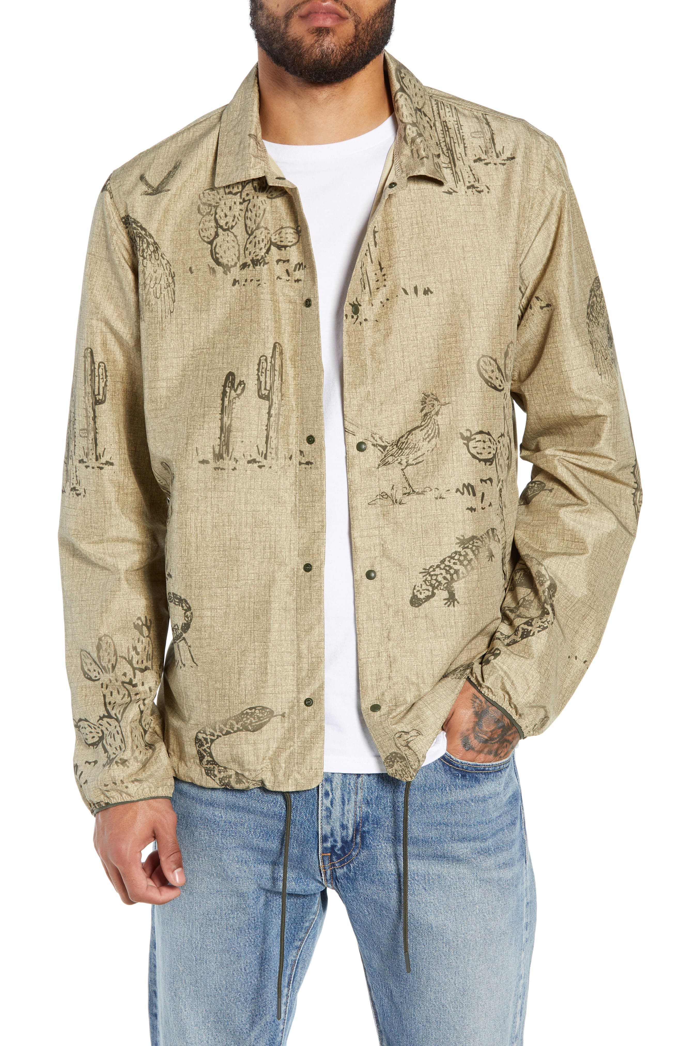 Voyage Coach's Jacket,                         Main,                         color, DESERT PREY