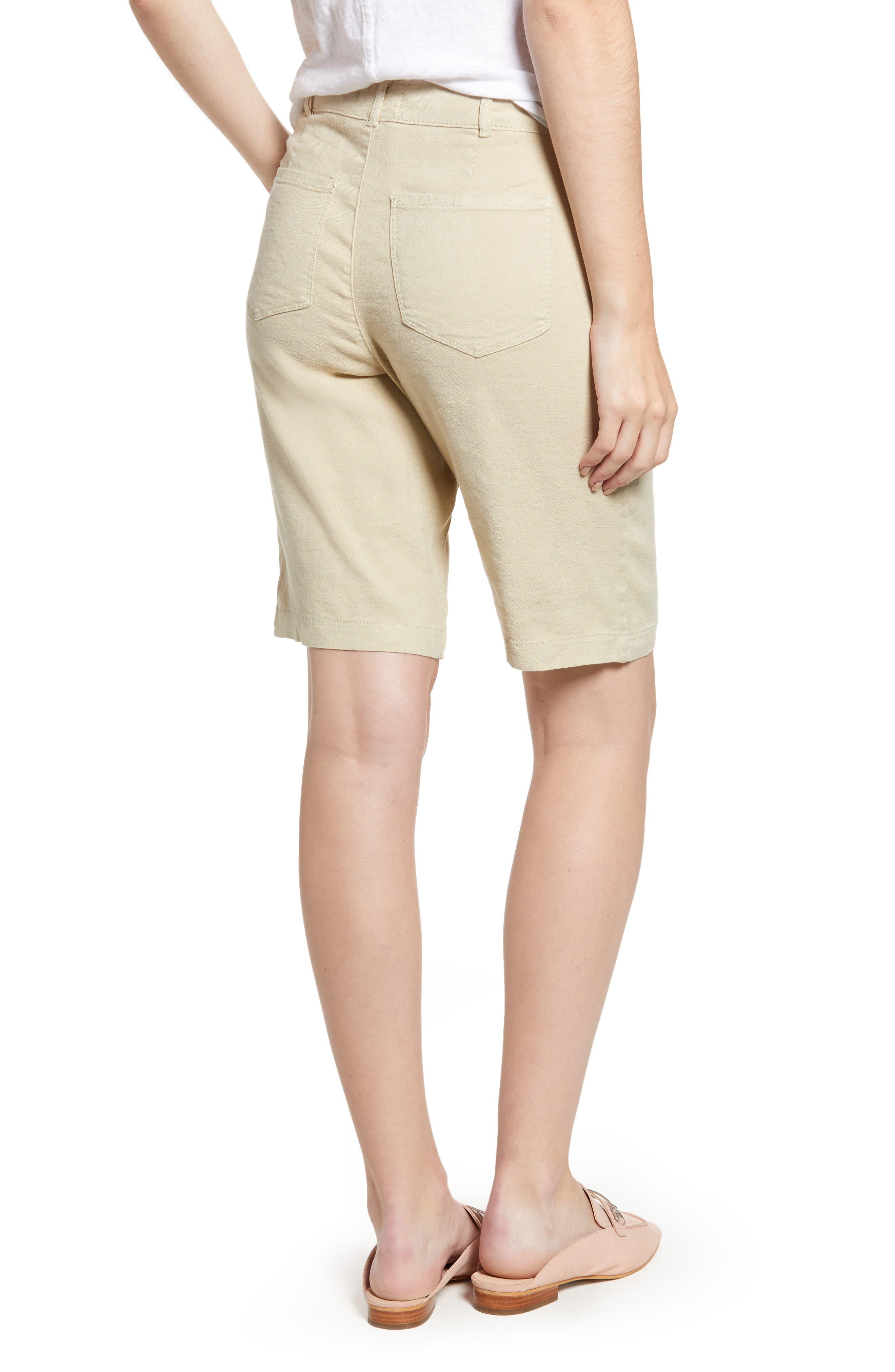 Stretch Linen Blend Bermuda Shorts,                             Alternate thumbnail 5, color,