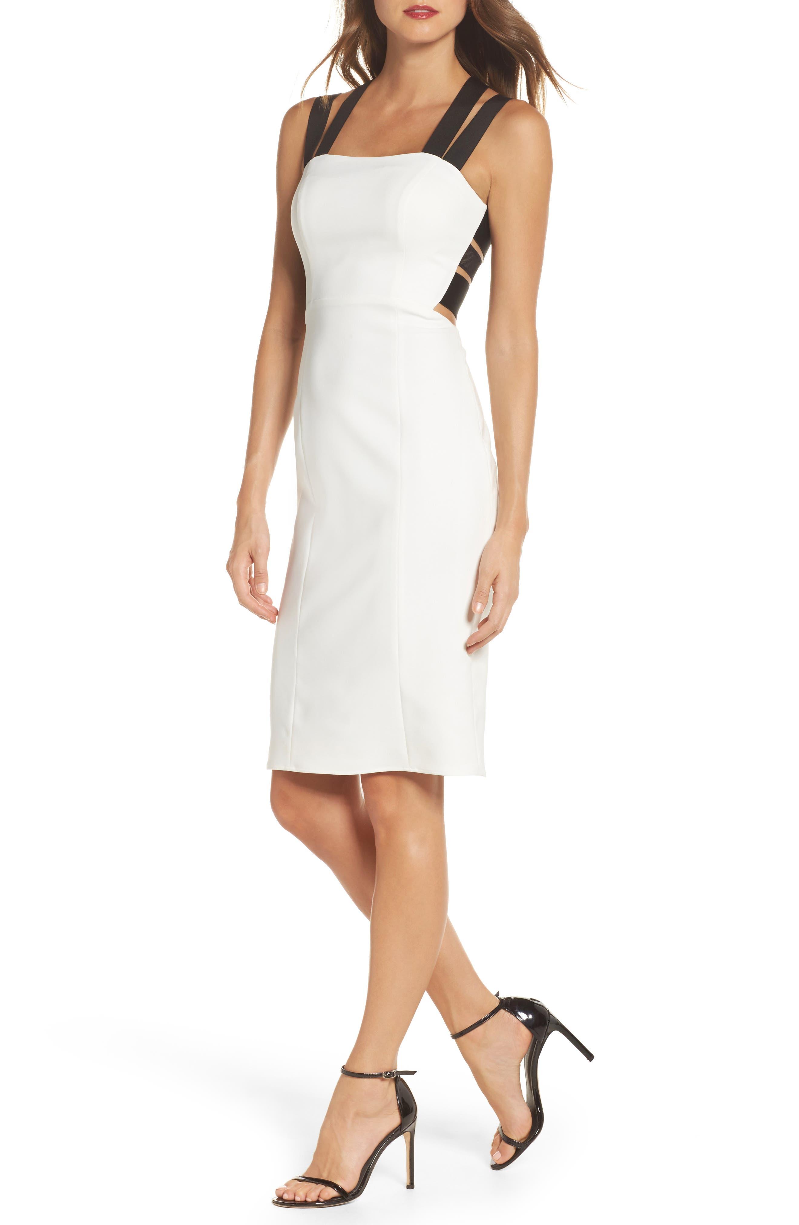 Kate Elastic Strap Cutout Sheath Dress,                             Main thumbnail 1, color,                             902