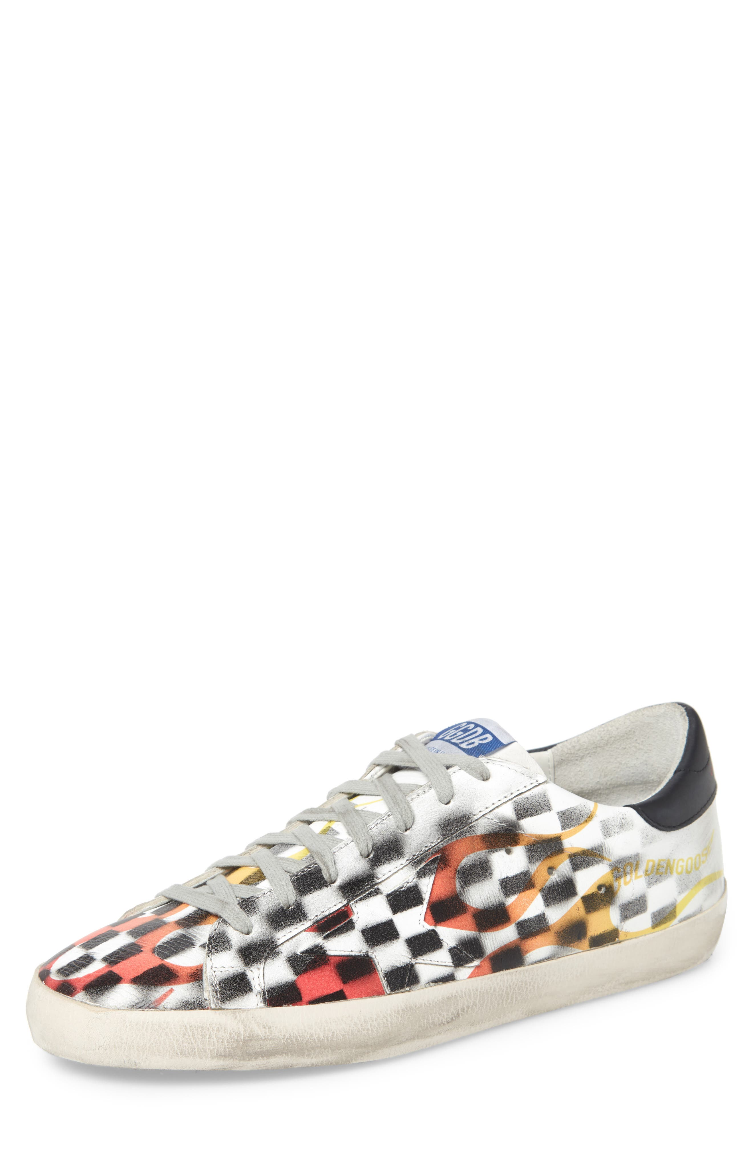 Superstar Low Top Sneaker, Main, color, WHITE FLAME DAMA