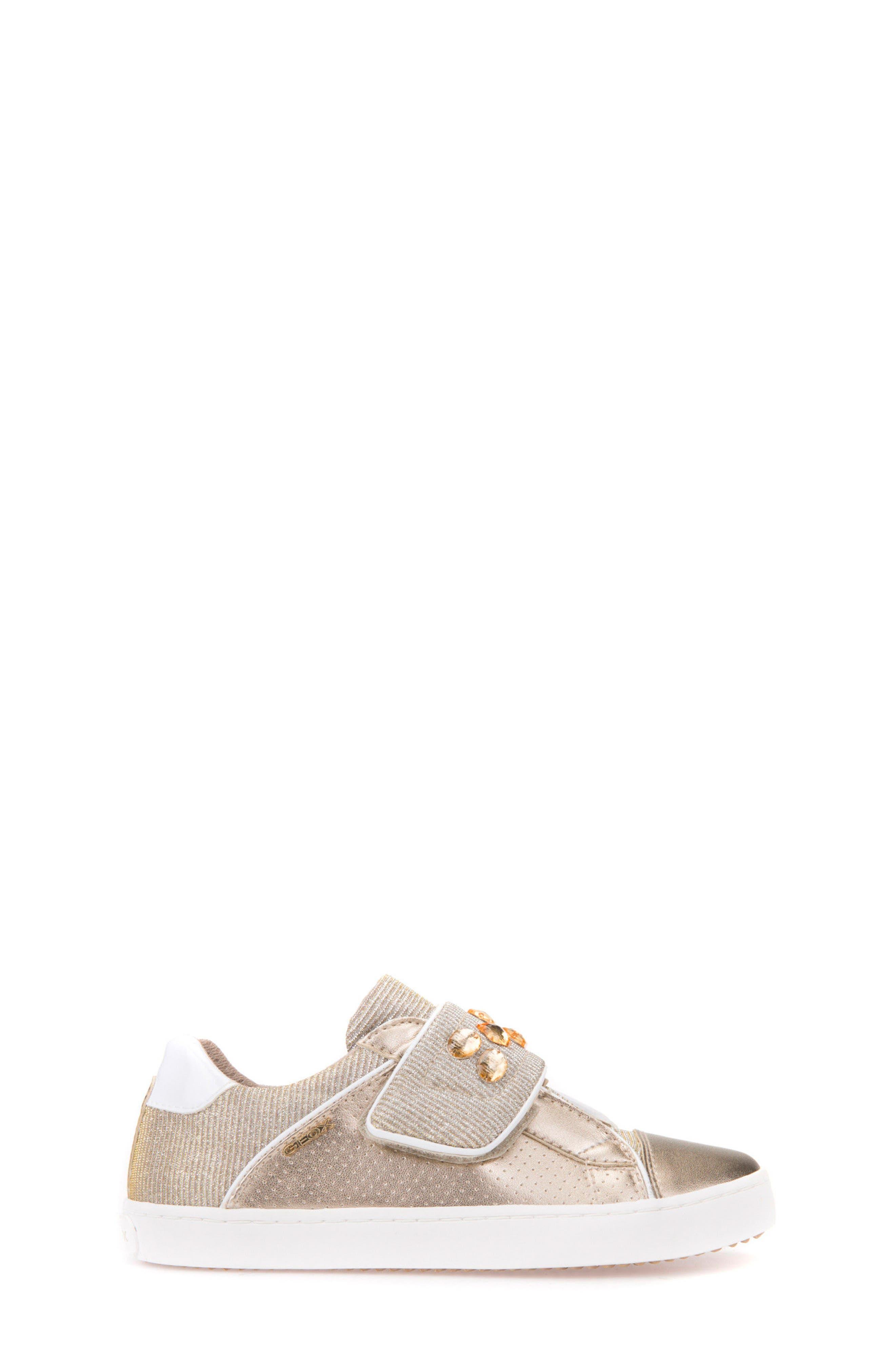 Kilwi Metallic Embellished Sneaker,                             Alternate thumbnail 3, color,                             GOLD