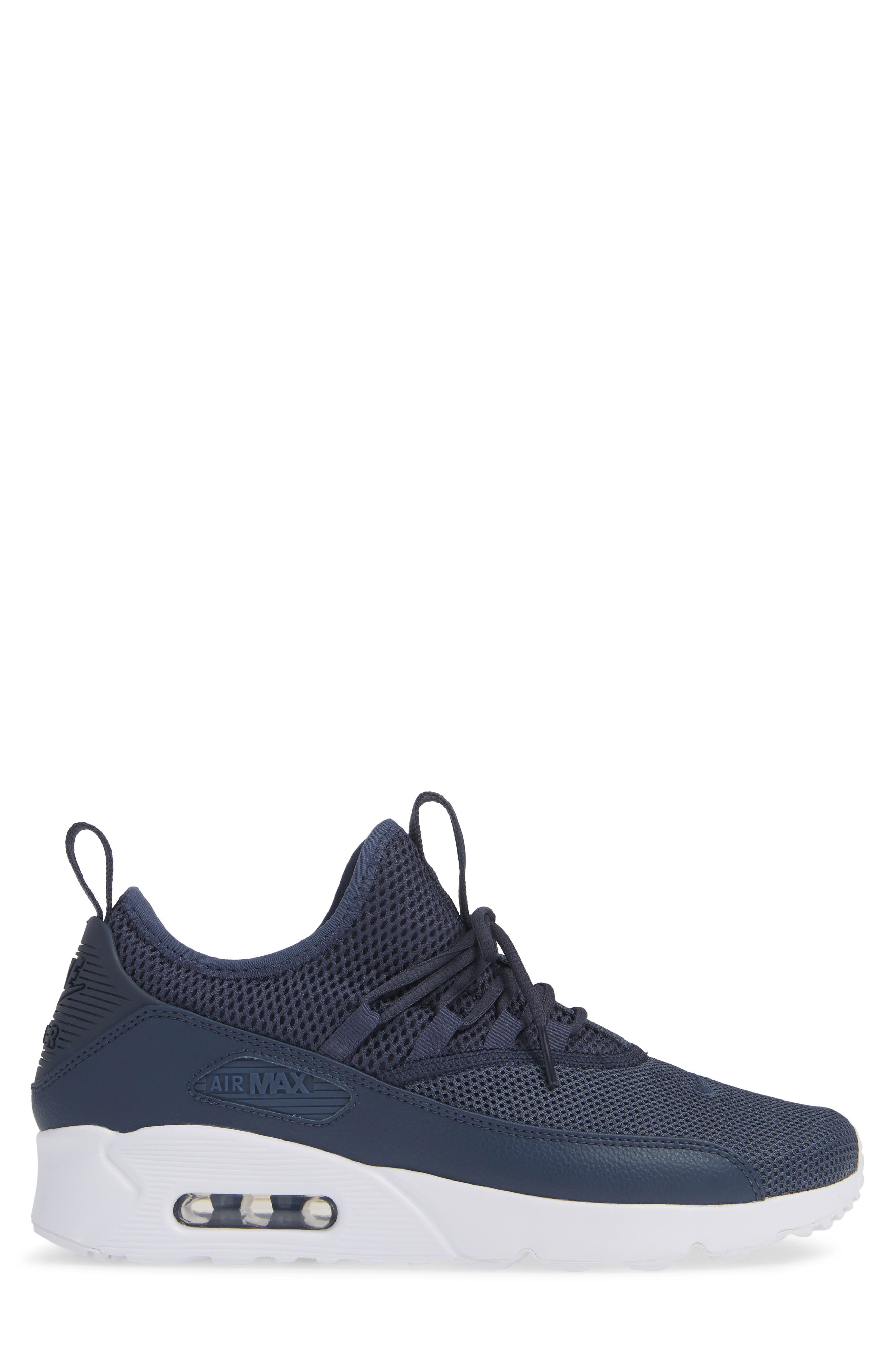 Air Max 90 EZ Sneaker,                             Alternate thumbnail 3, color,                             THUNDER BLUE/ WHITE