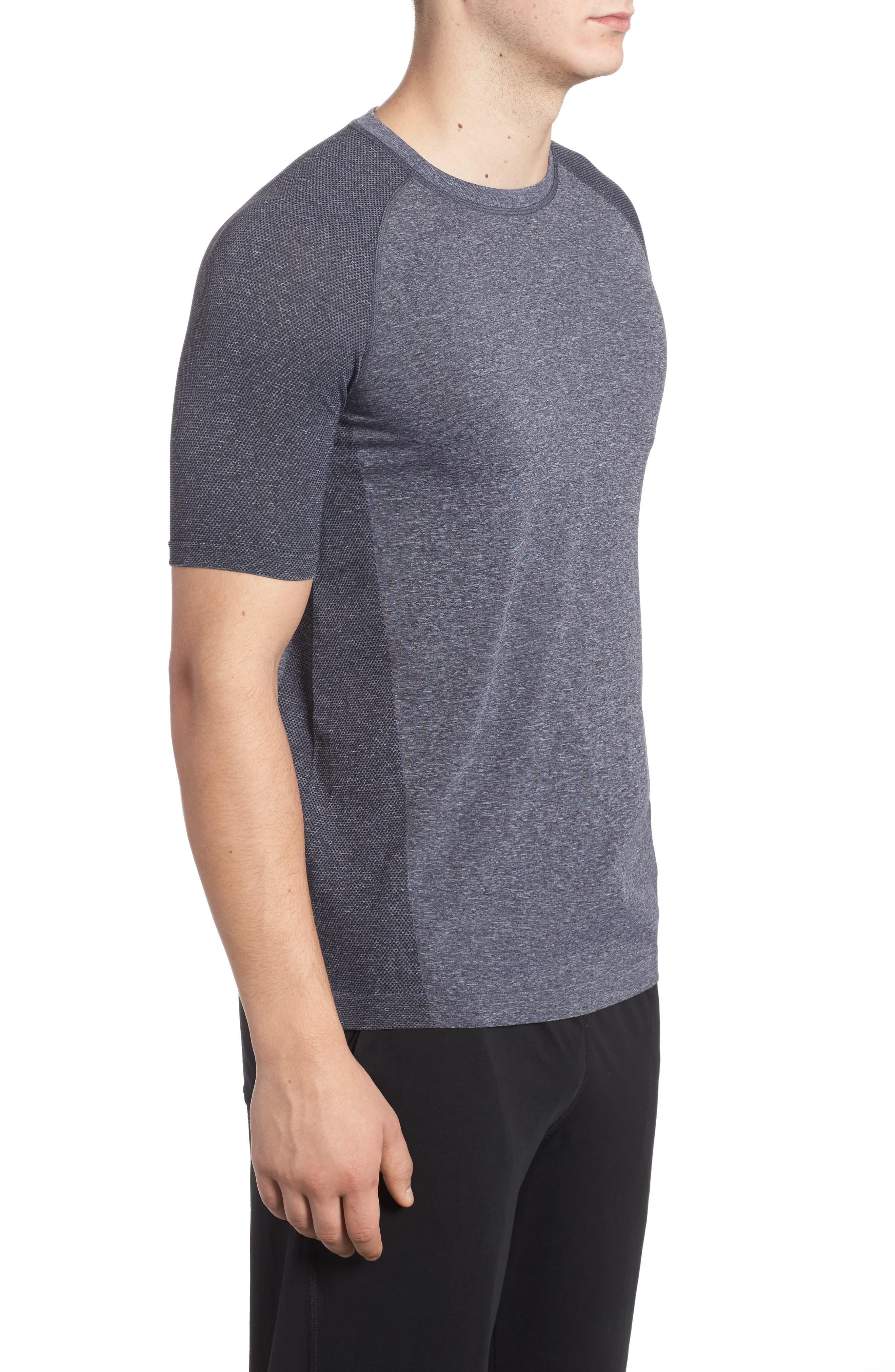 Vapor Performance T-Shirt,                             Alternate thumbnail 3, color,                             ASPHALT