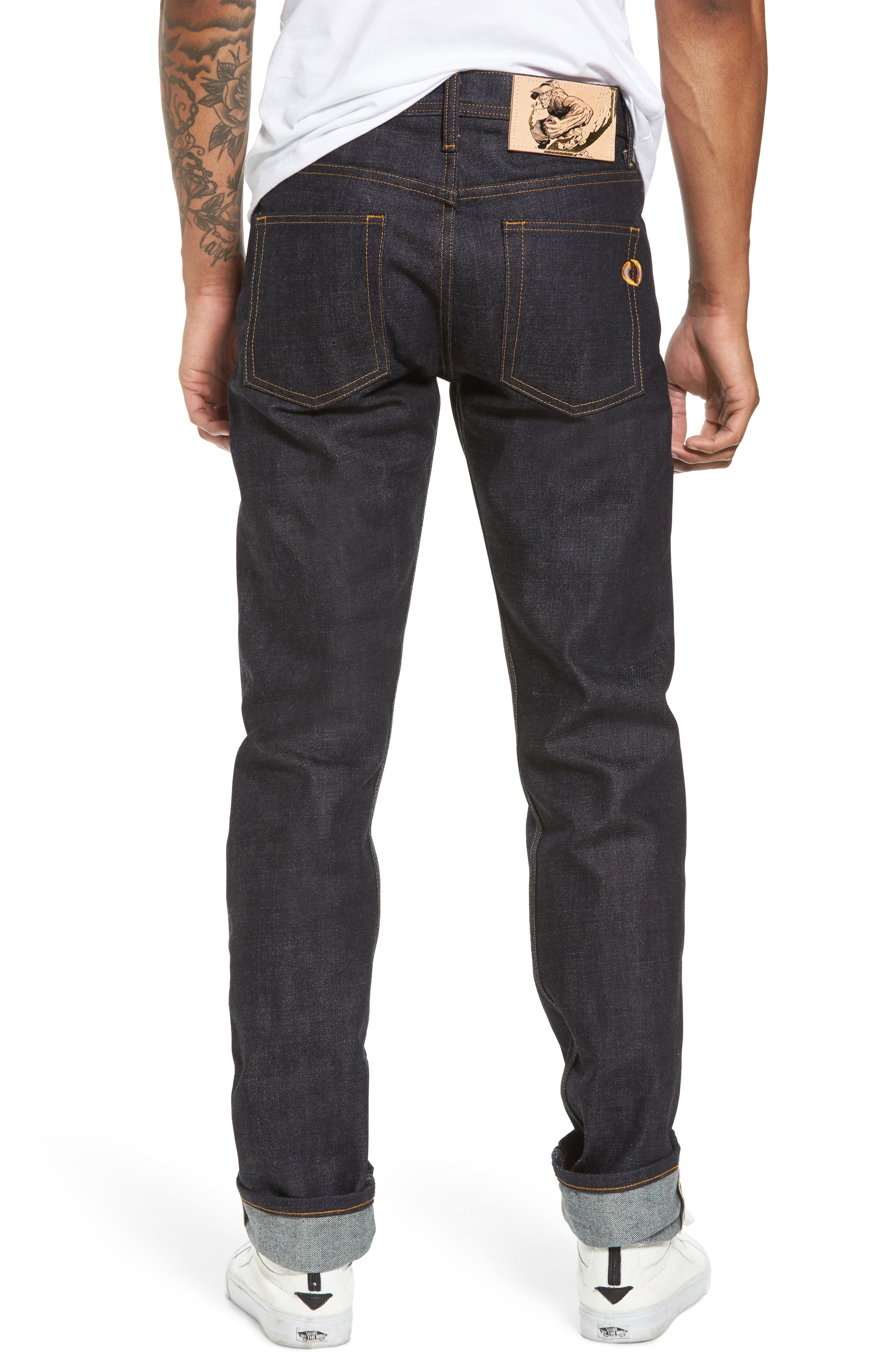 Weird Guy Slim Fit Street Fighter Sonic Boom Selvedge Jeans,                             Alternate thumbnail 2, color,                             400