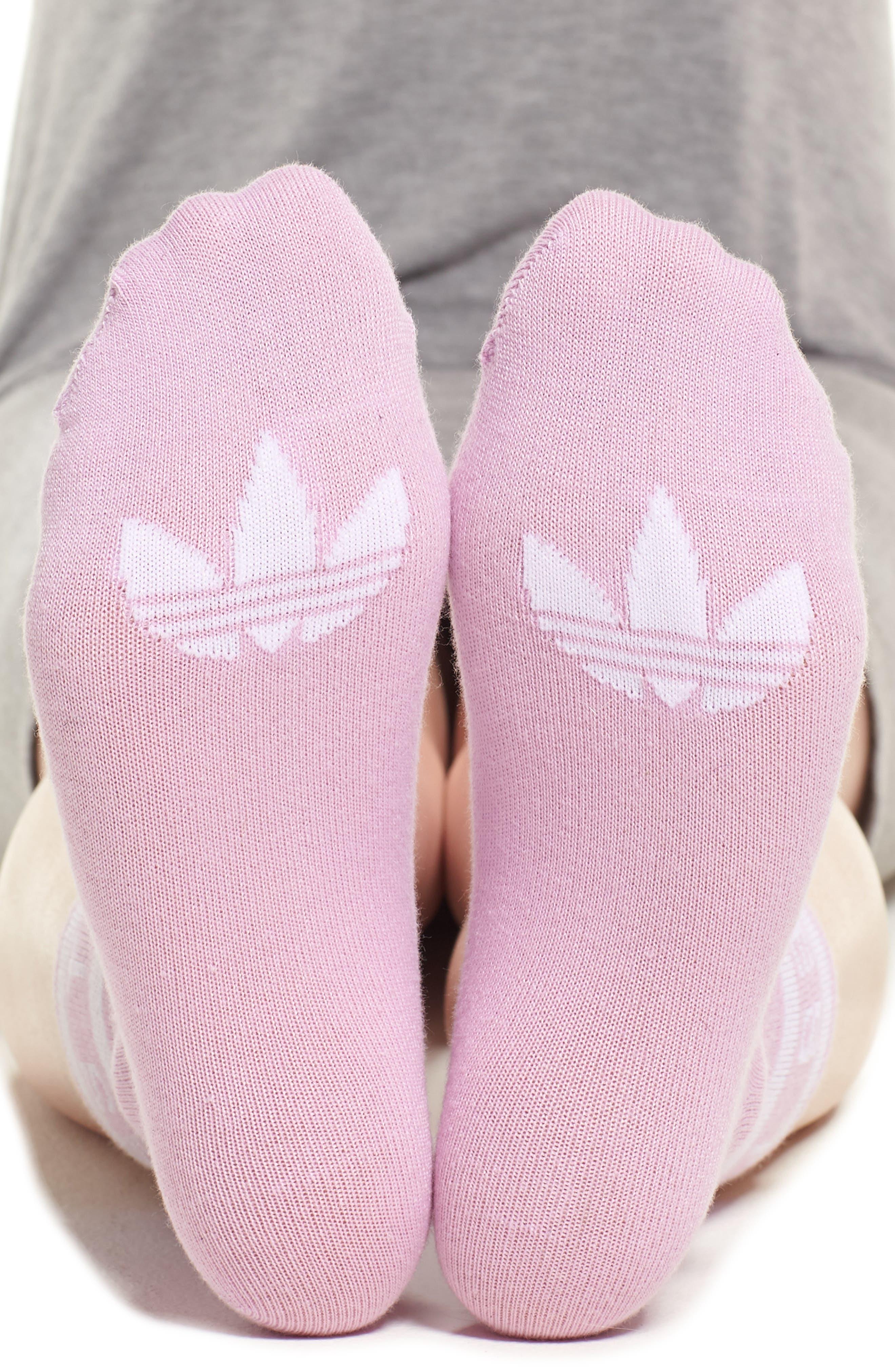 Three Stripe Ankle Socks,                             Alternate thumbnail 2, color,