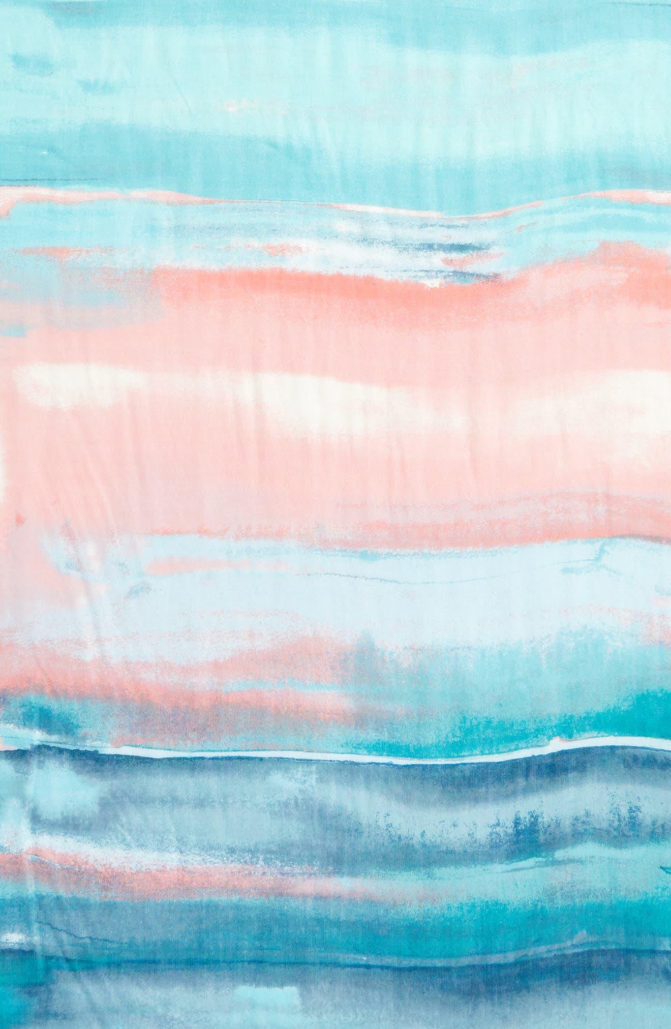 Eyelash Trim Print Cashmere & Silk Wrap,                             Alternate thumbnail 100, color,