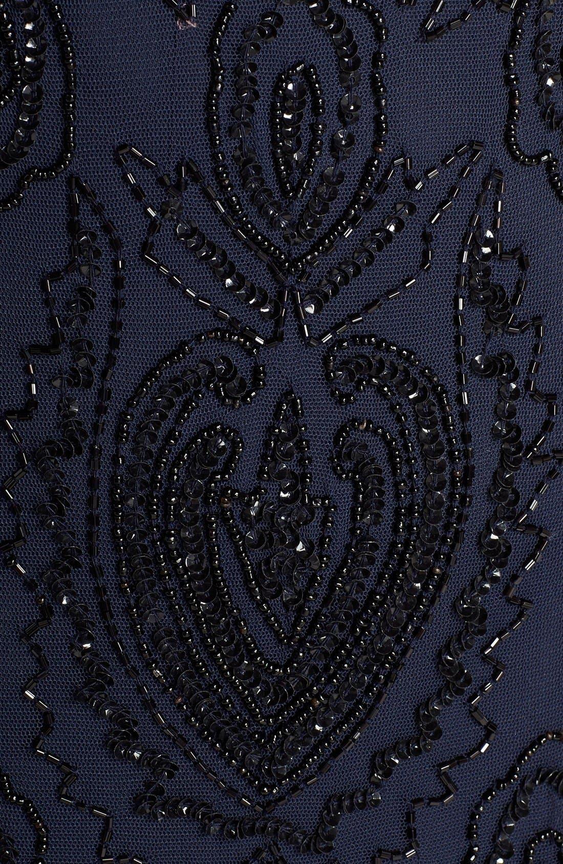 Beaded V-Neck Gown & Jacket,                             Alternate thumbnail 8, color,