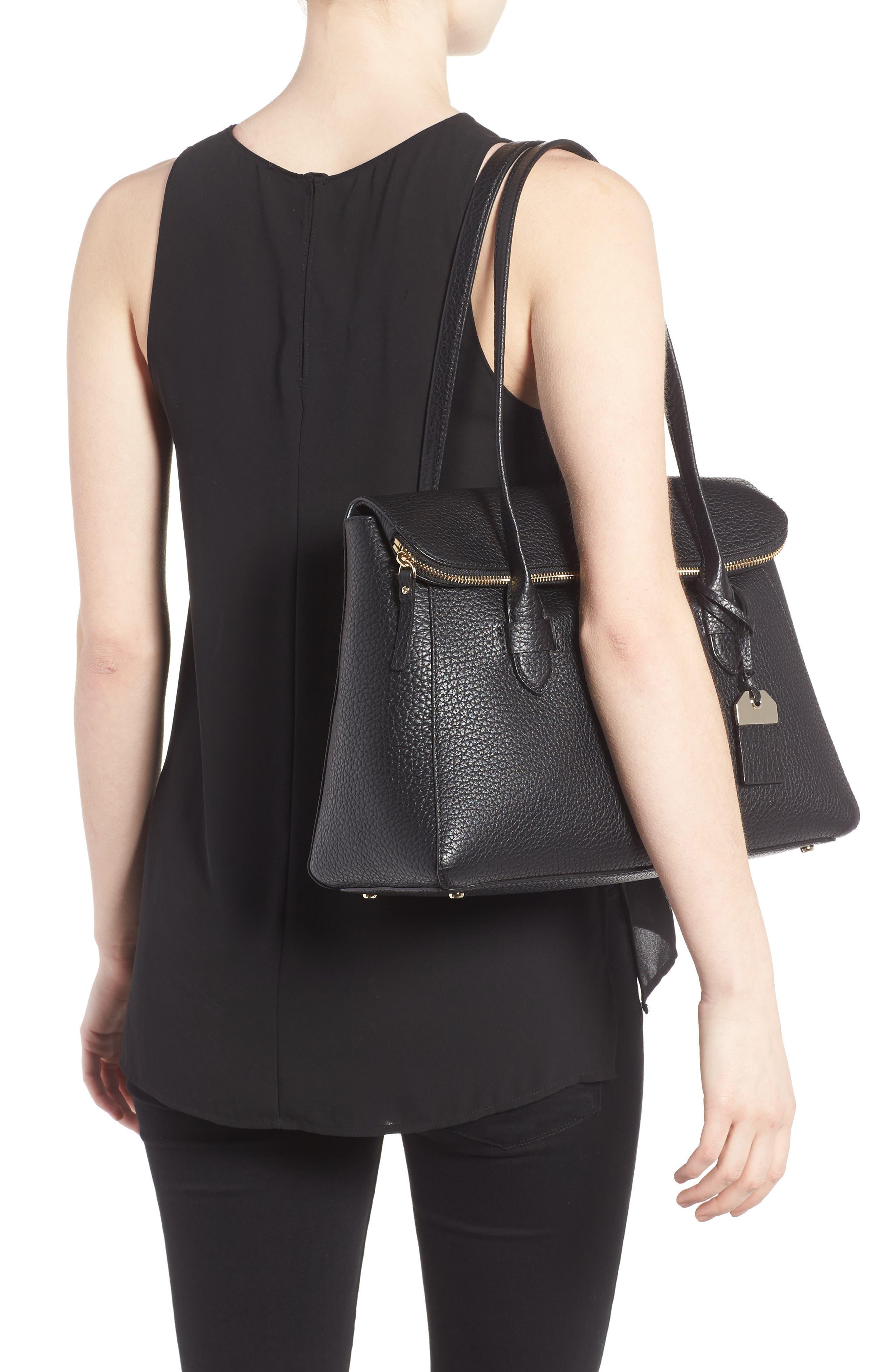carter street - laurelle leather tote,                             Alternate thumbnail 2, color,                             001