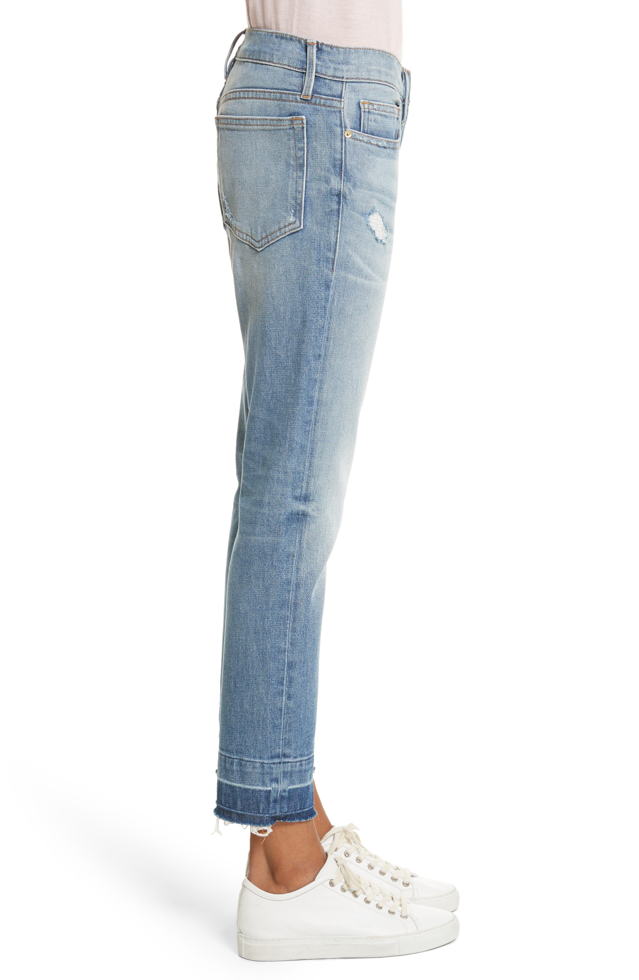 Le Boy Ripped High Waist Jeans,                             Alternate thumbnail 3, color,