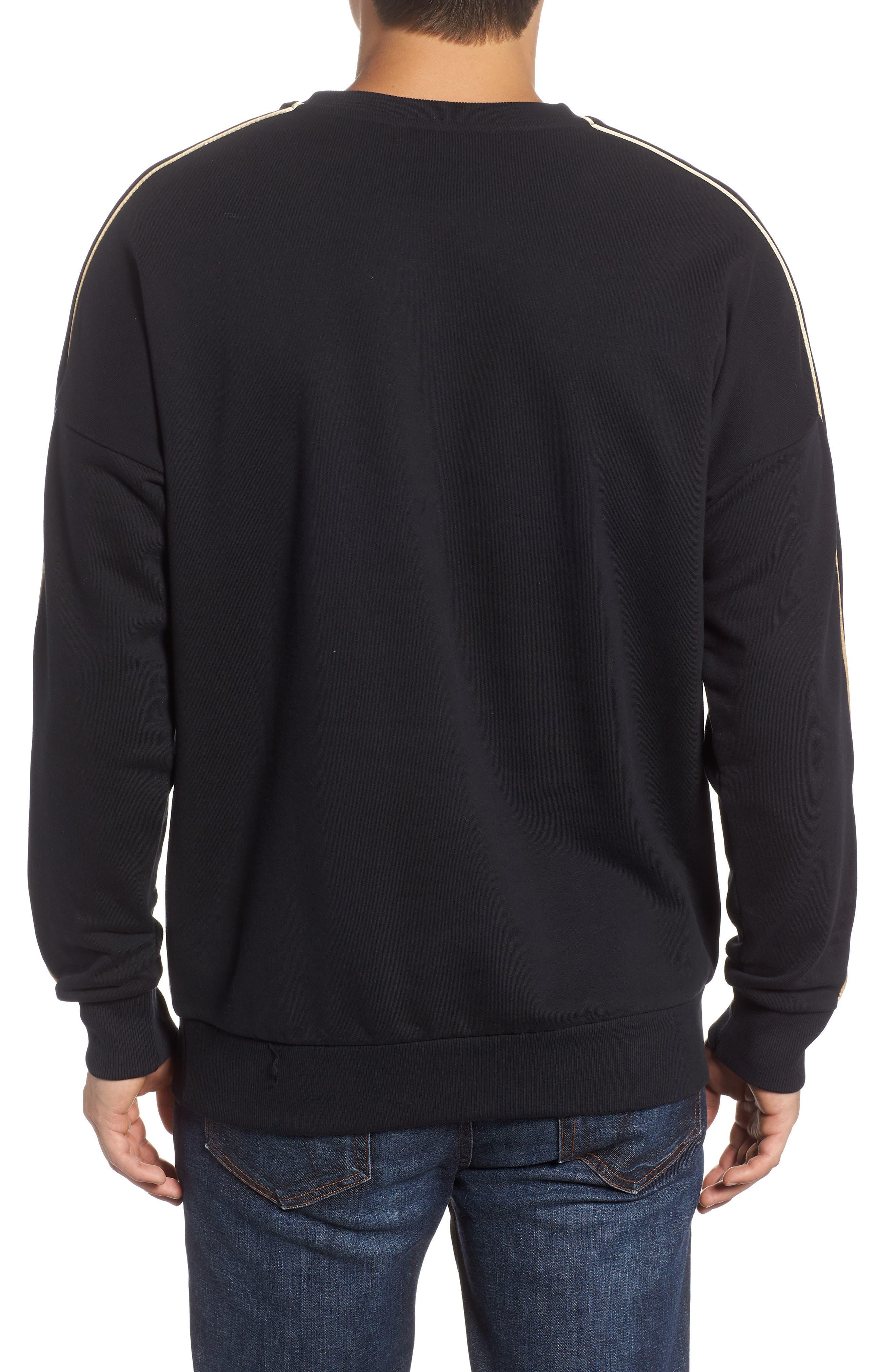 Chains Logo Graphic Sweatshirt,                             Alternate thumbnail 2, color,                             PUMA BLACK