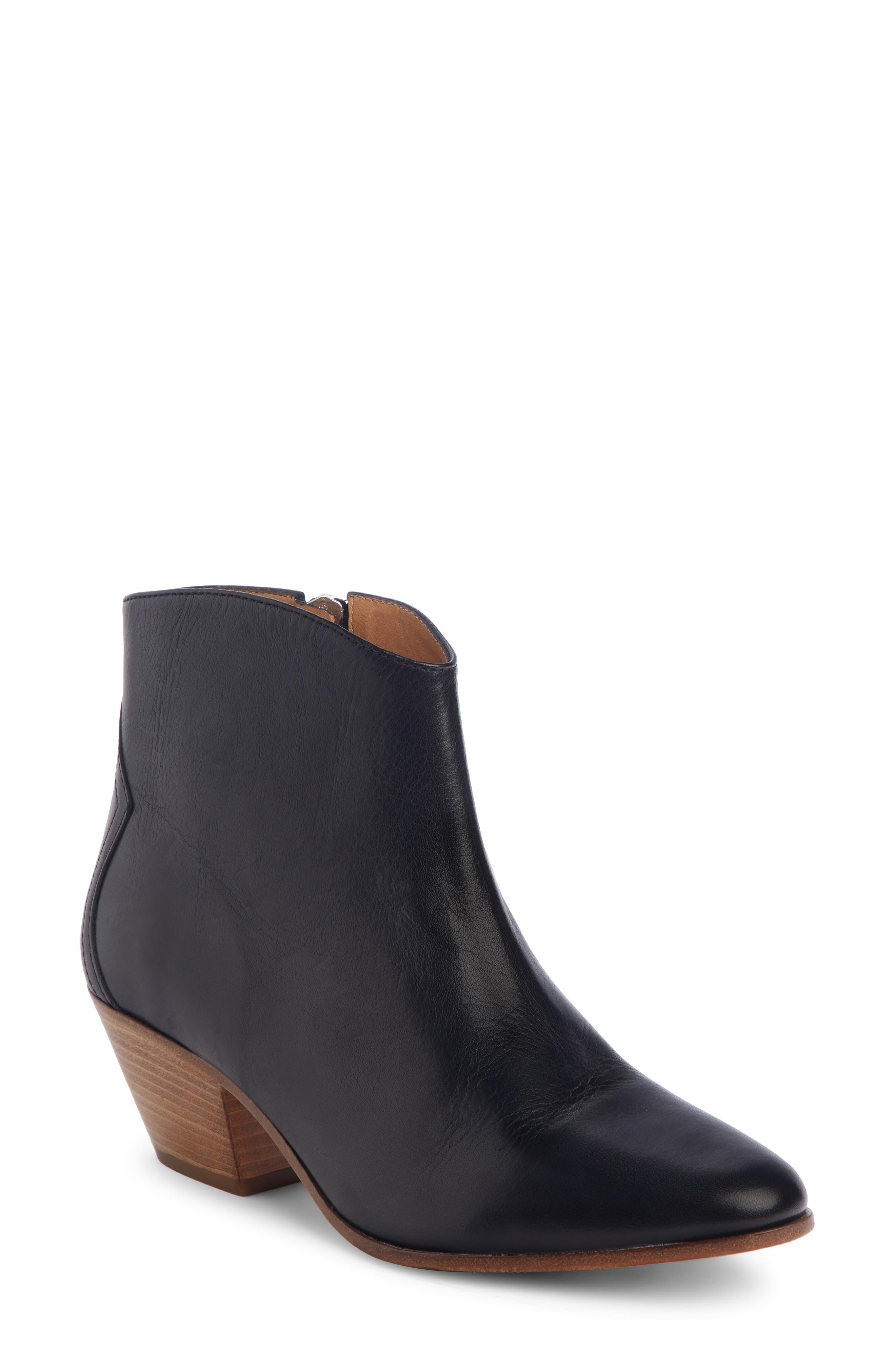 Dacken Bootie,                             Main thumbnail 1, color,                             BLACK LEATHER