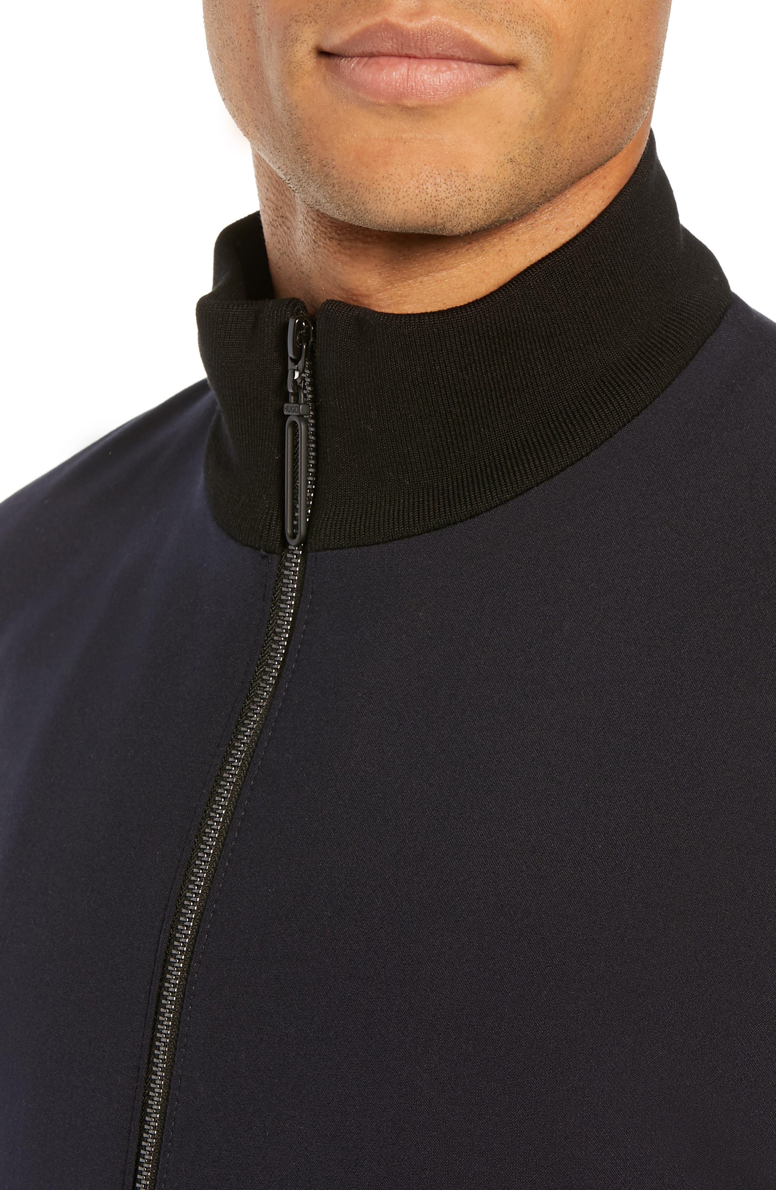 Janno Slim Zip Front Sport Coat,                             Alternate thumbnail 4, color,                             BLUE
