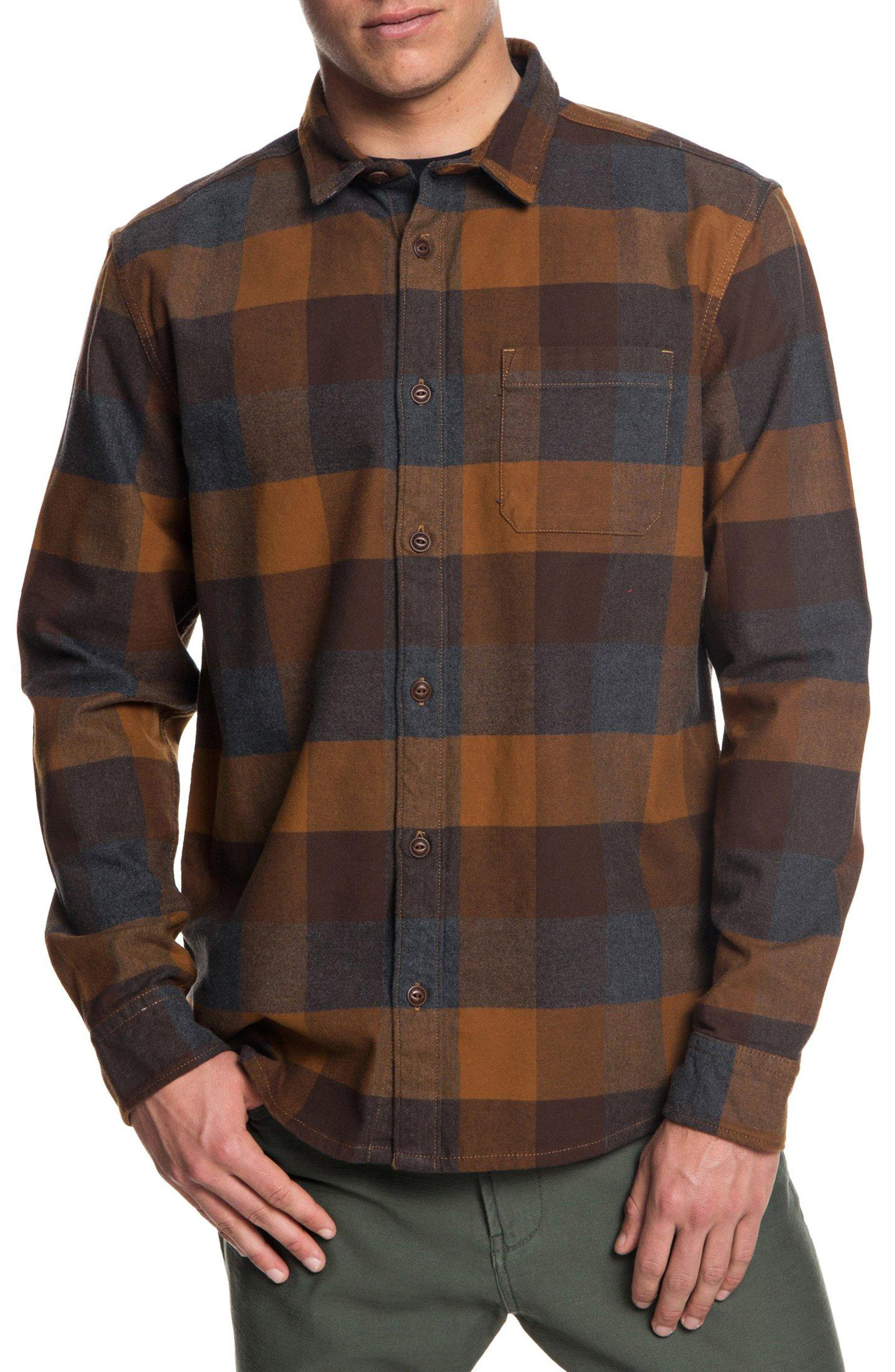 Stretch Flannel Shirt,                             Main thumbnail 1, color,                             208