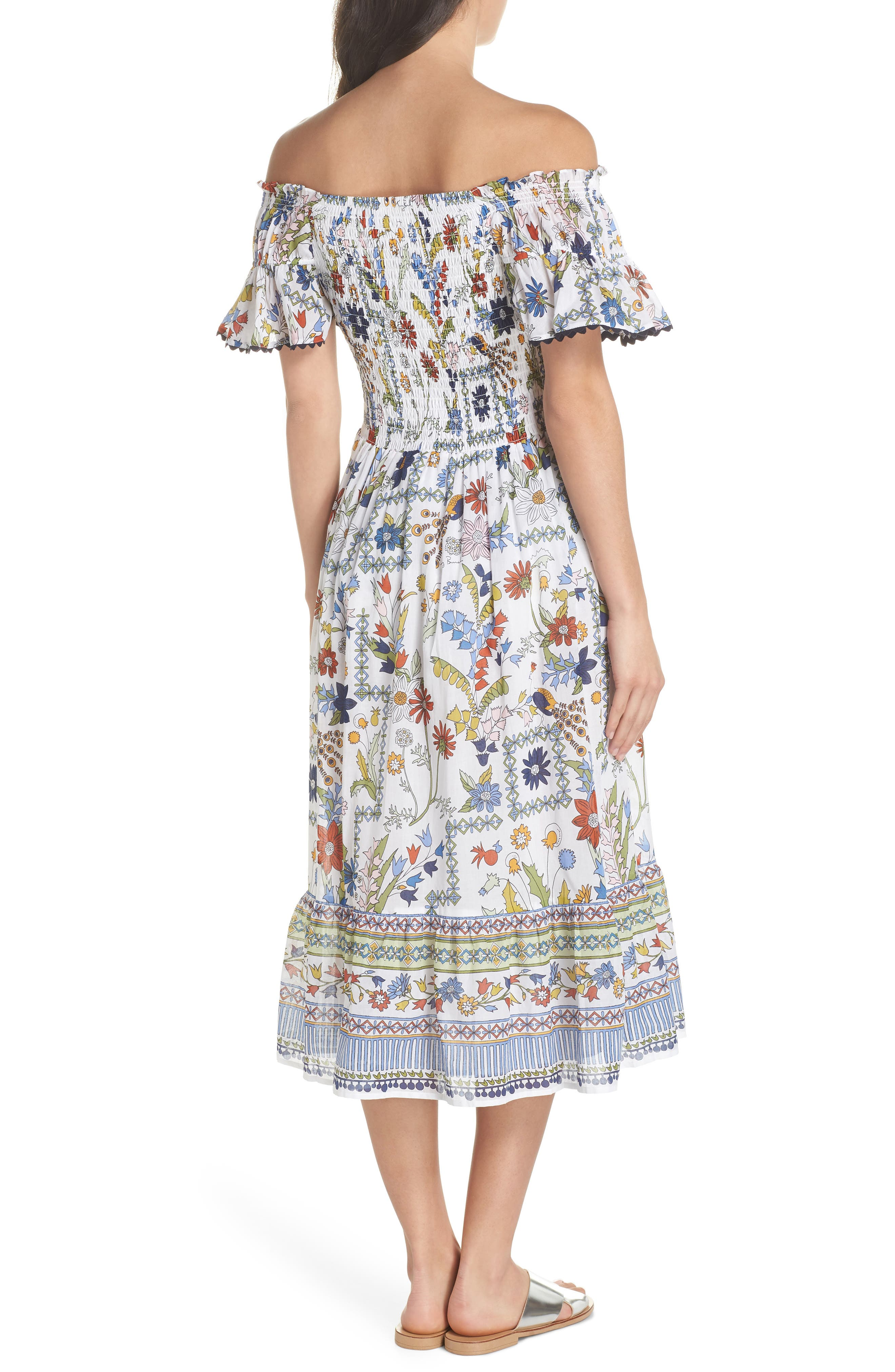 Meadow Folly Off the Shoulder Cover-Up Dress,                             Alternate thumbnail 2, color,                             900