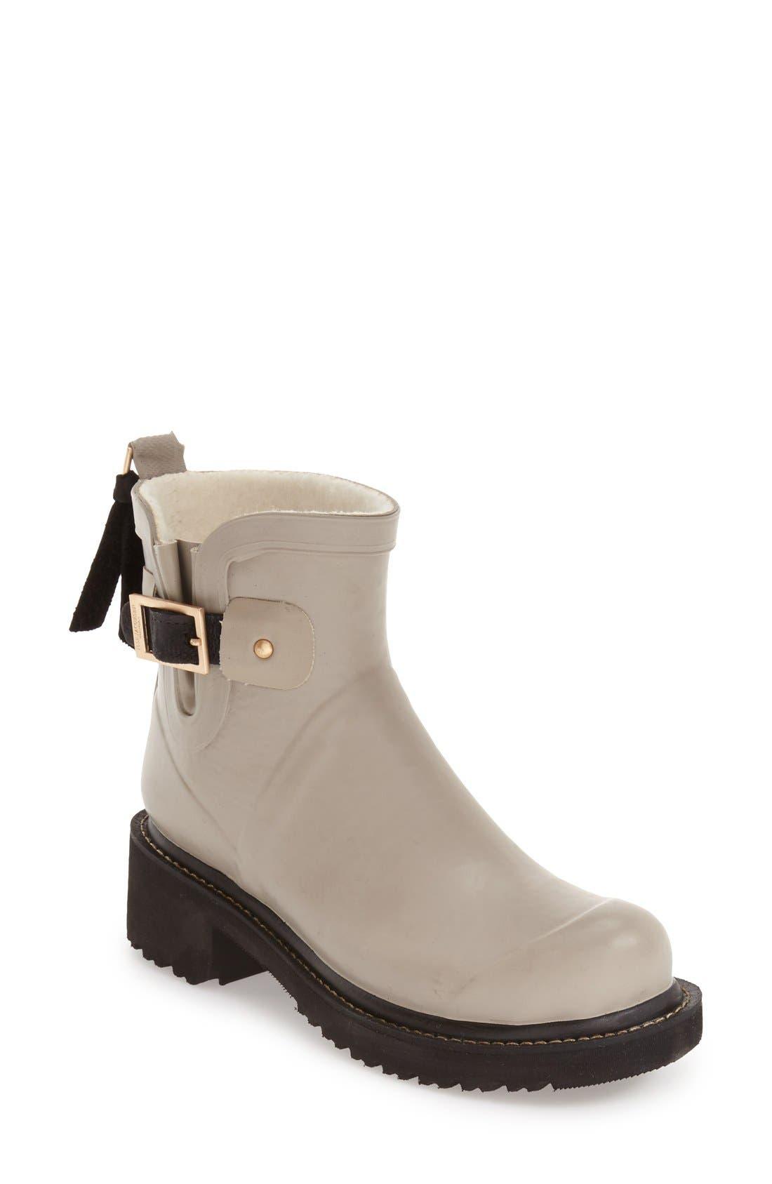 Short Waterproof Rubber Boot,                         Main,                         color, ATMOSPHERE