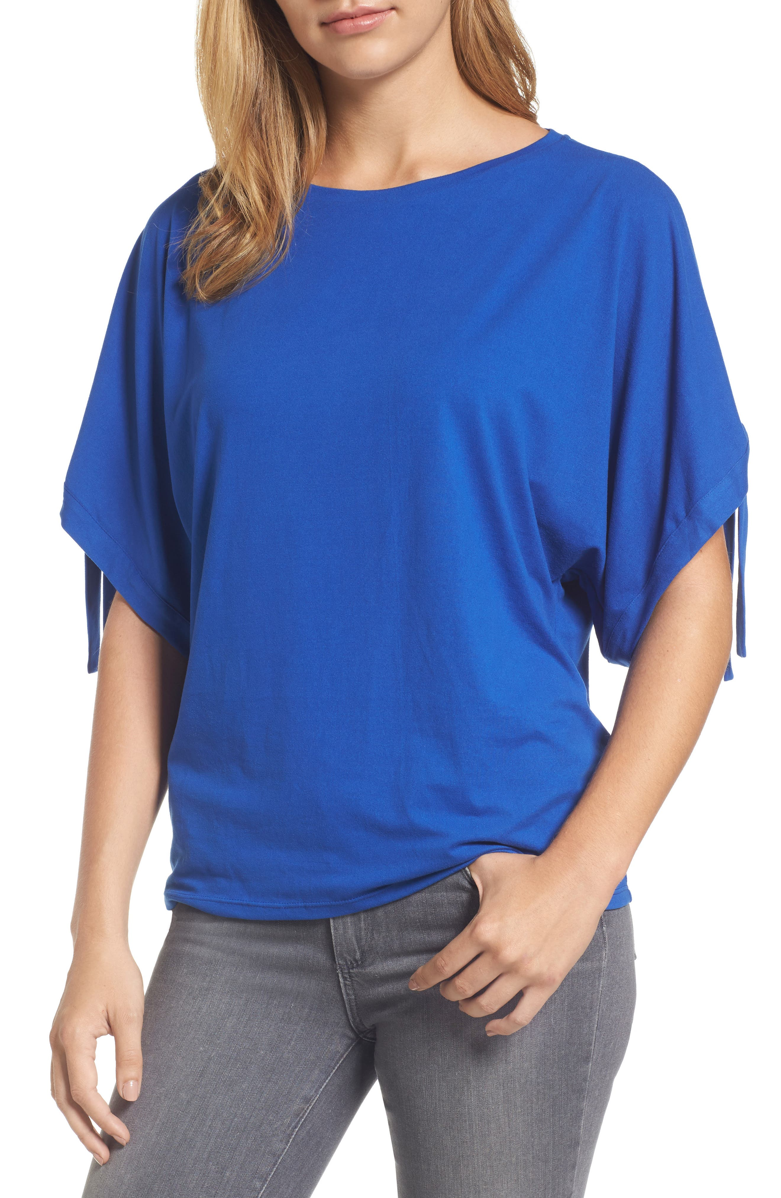 Stretch Knit Top,                             Main thumbnail 1, color,                             421