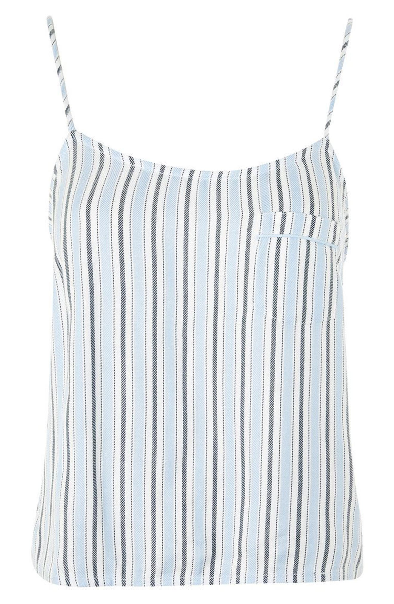 Bobby Stripe Pajama Tank,                             Alternate thumbnail 4, color,