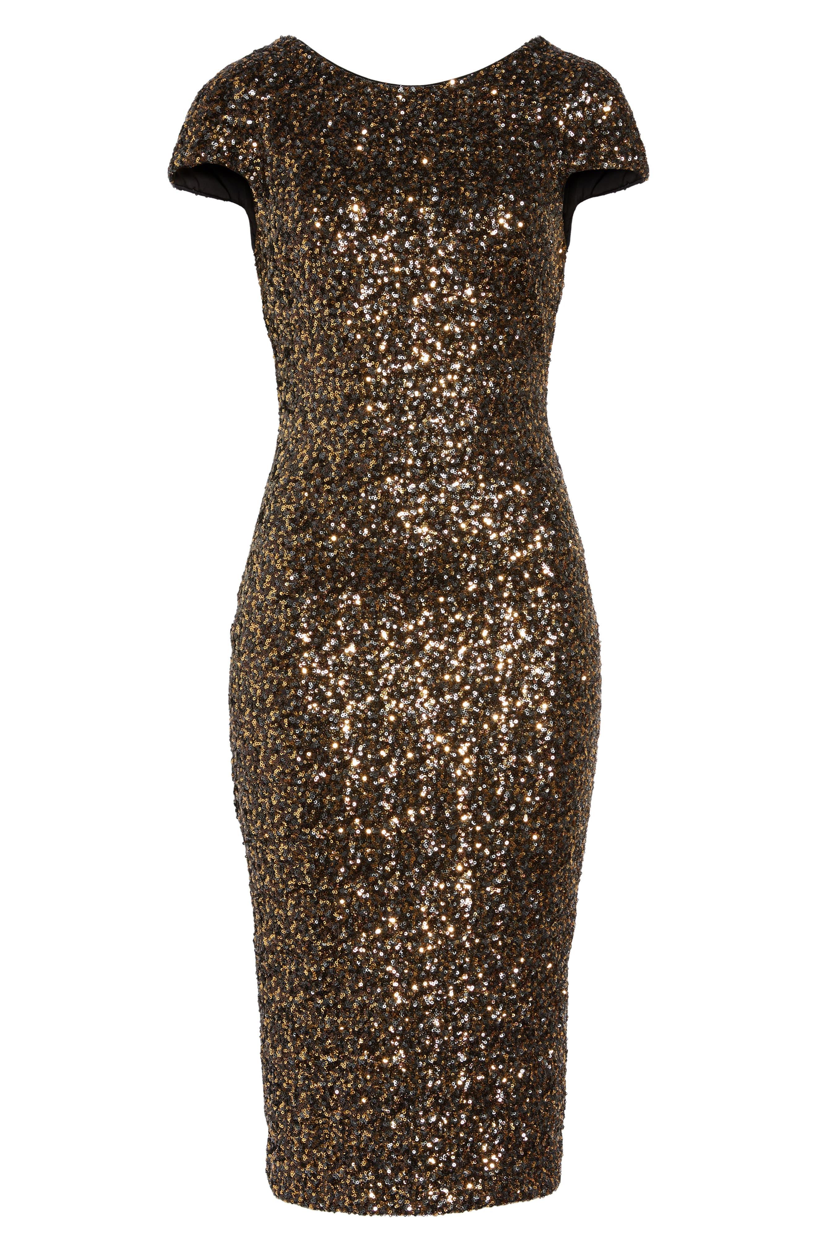 'Marcella' Open Back Sequin Body-Con Dress,                         Main,                         color, 716