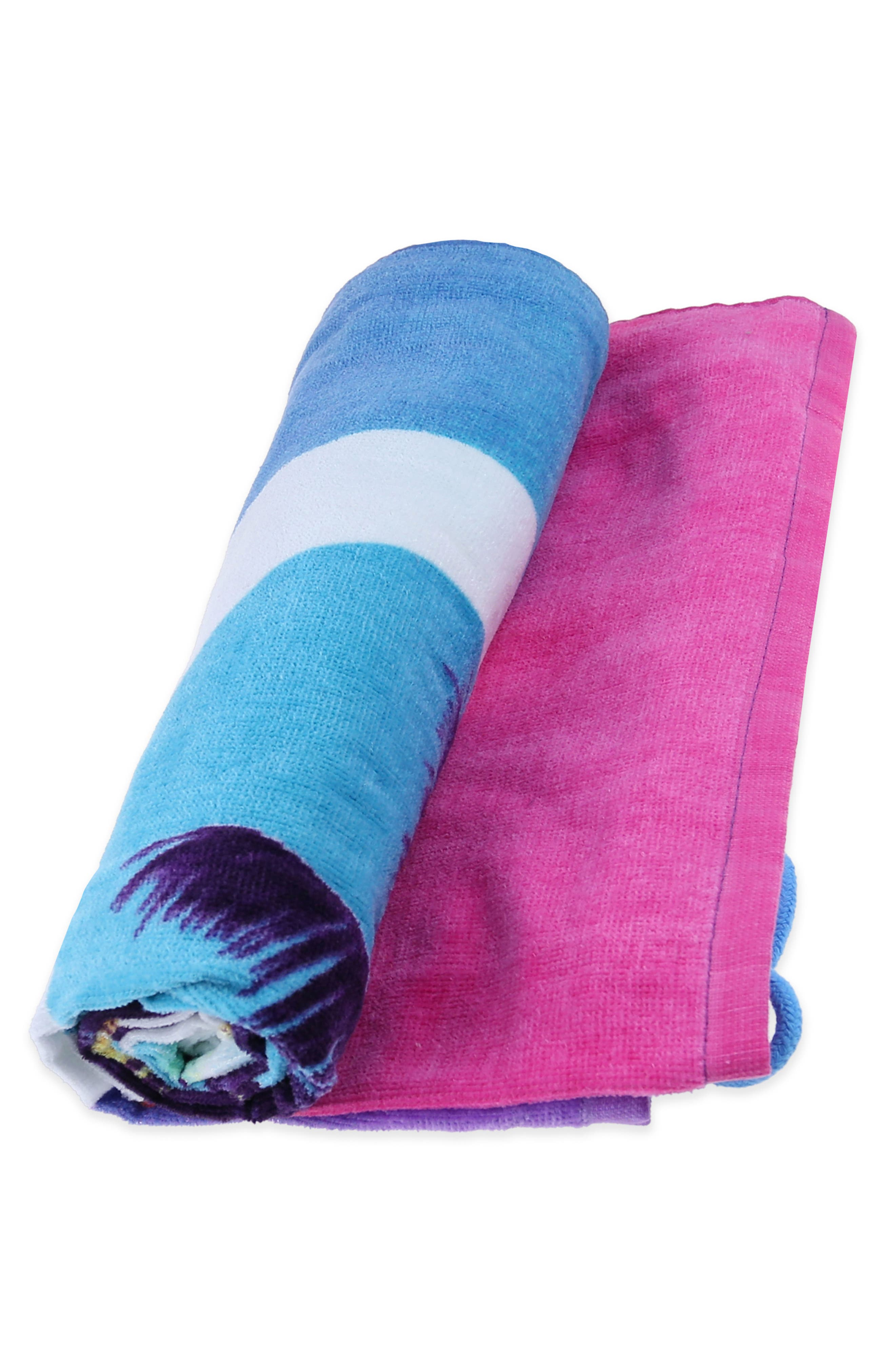 Heart Sunnies Towel Backpack,                             Alternate thumbnail 6, color,                             475