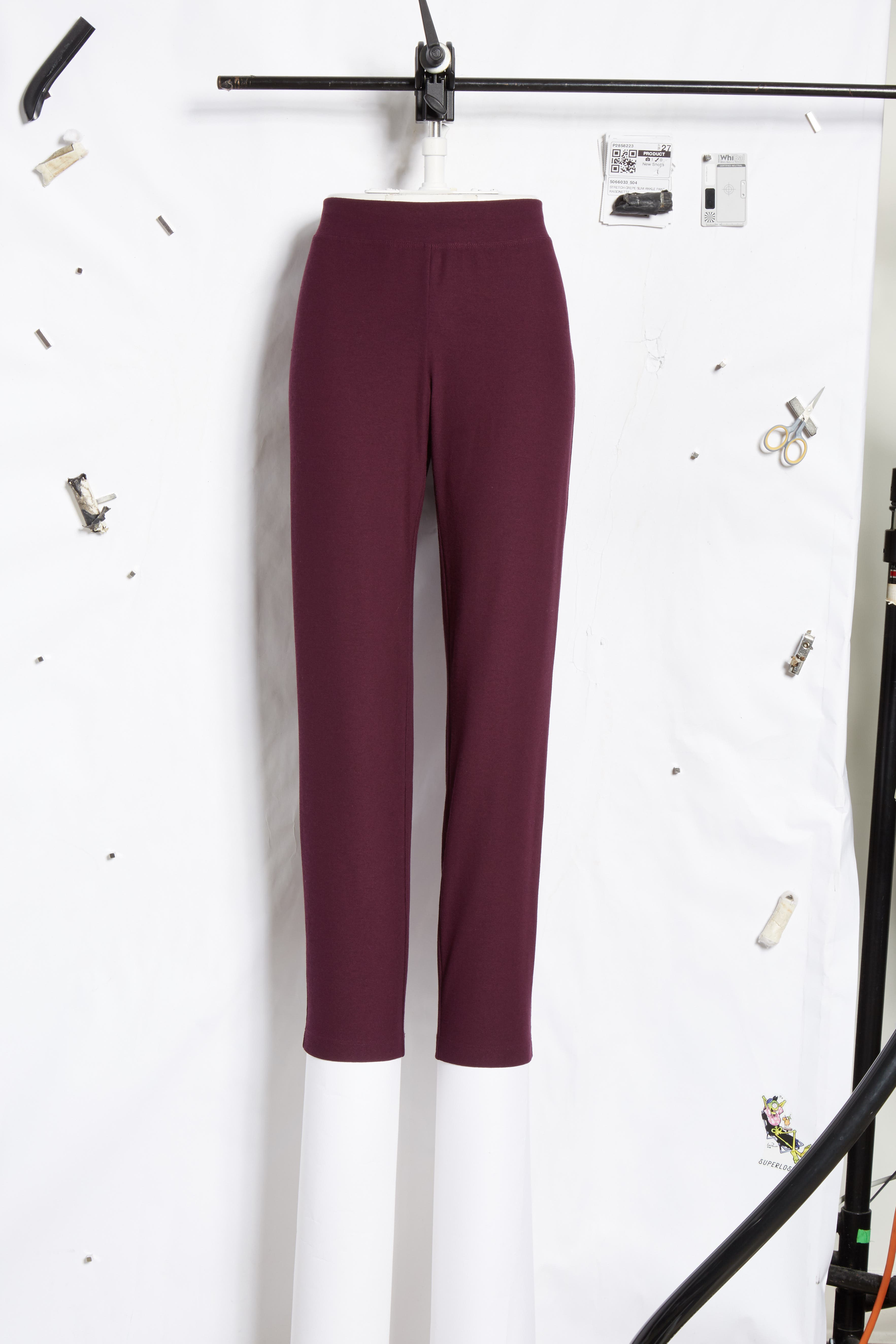 Stretch Crepe Slim Ankle Pants,                             Alternate thumbnail 7, color,                             504