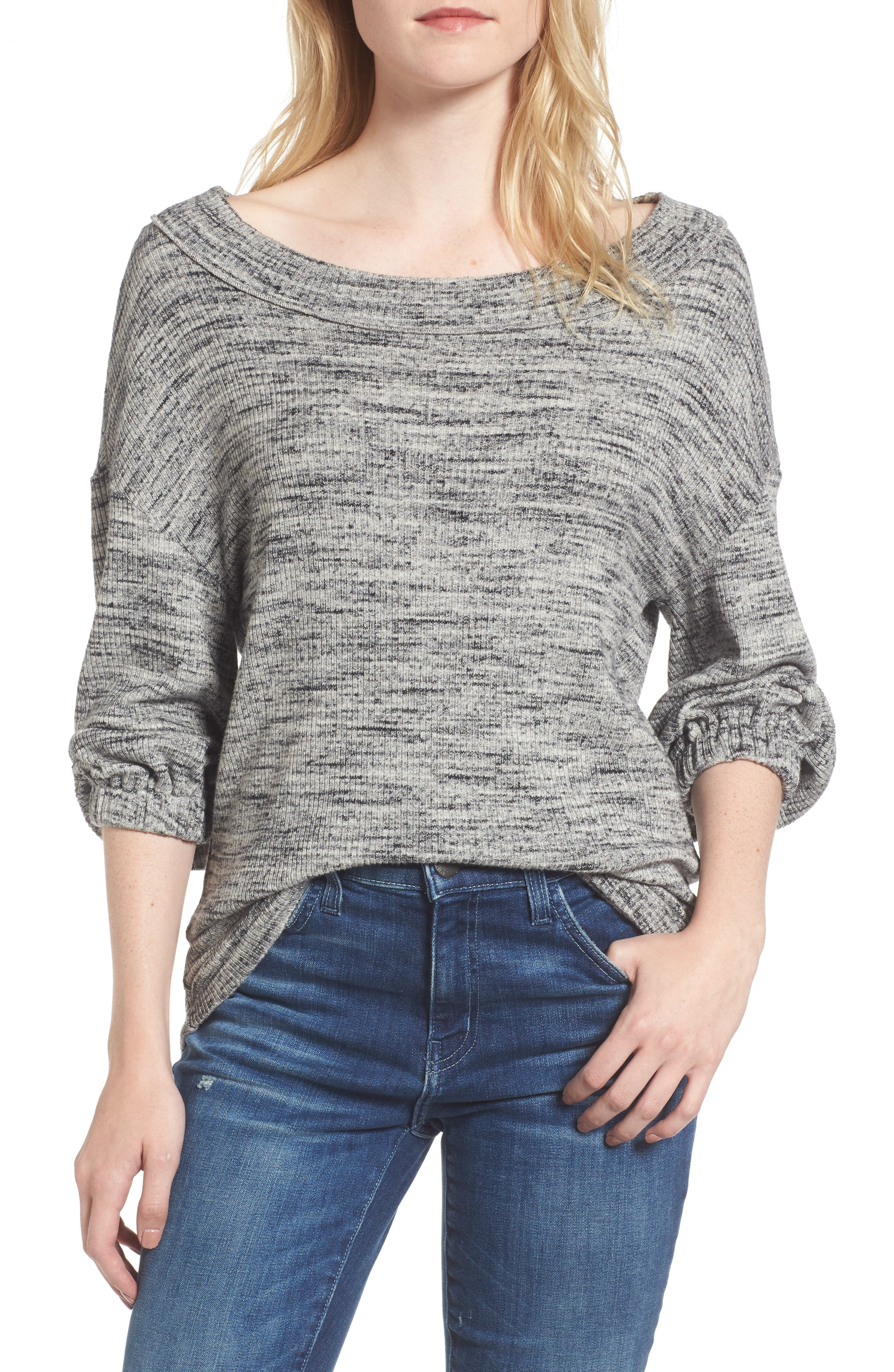 Triblend Ribbed Top,                         Main,                         color, 020