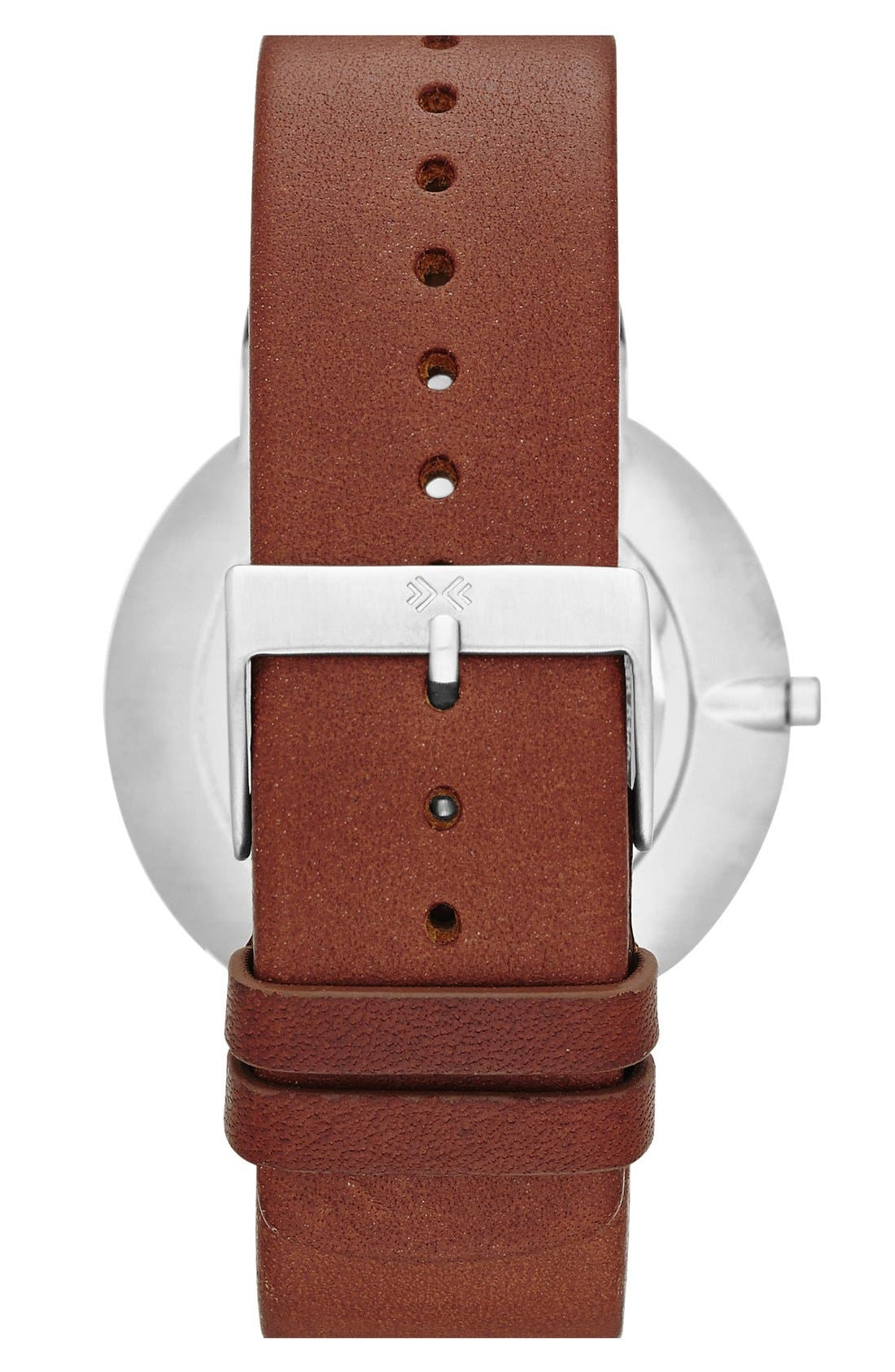 'Ancher' Round Leather Strap Watch, 40mm,                             Alternate thumbnail 8, color,