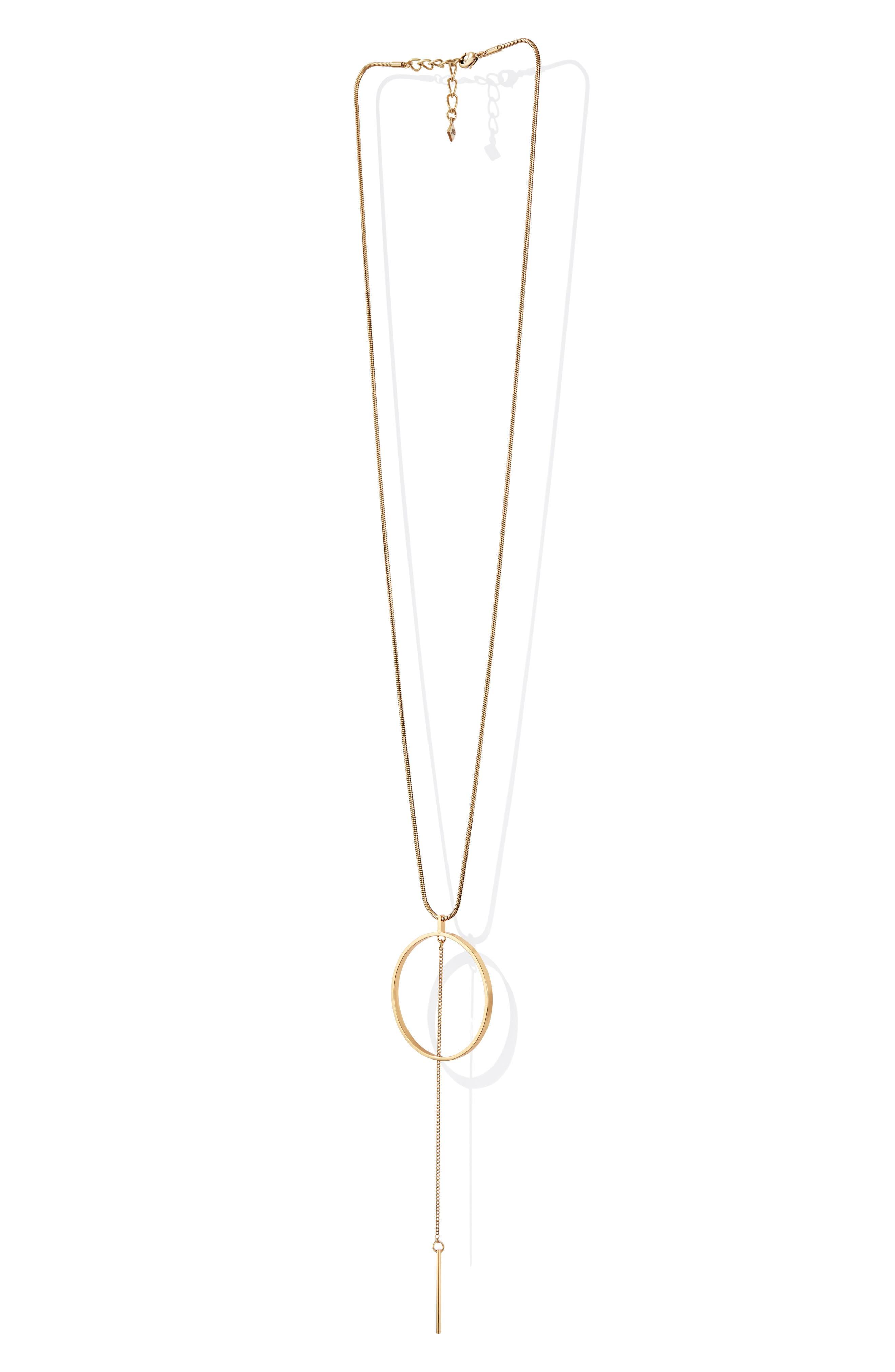 Rhine Pendant Necklace,                             Alternate thumbnail 4, color,                             GOLD