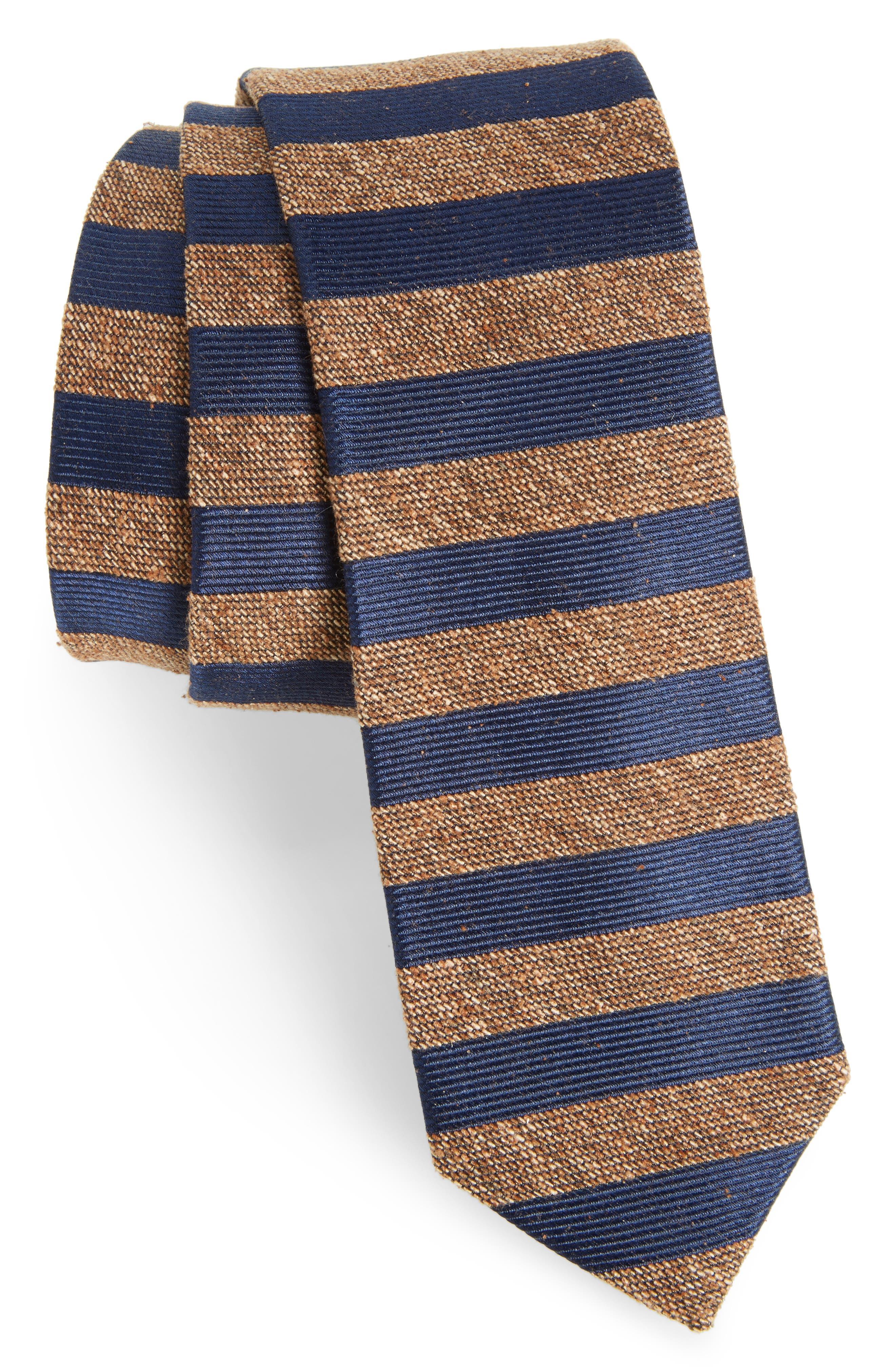 Meter Stripe Nep Silk Tie,                         Main,                         color, 200