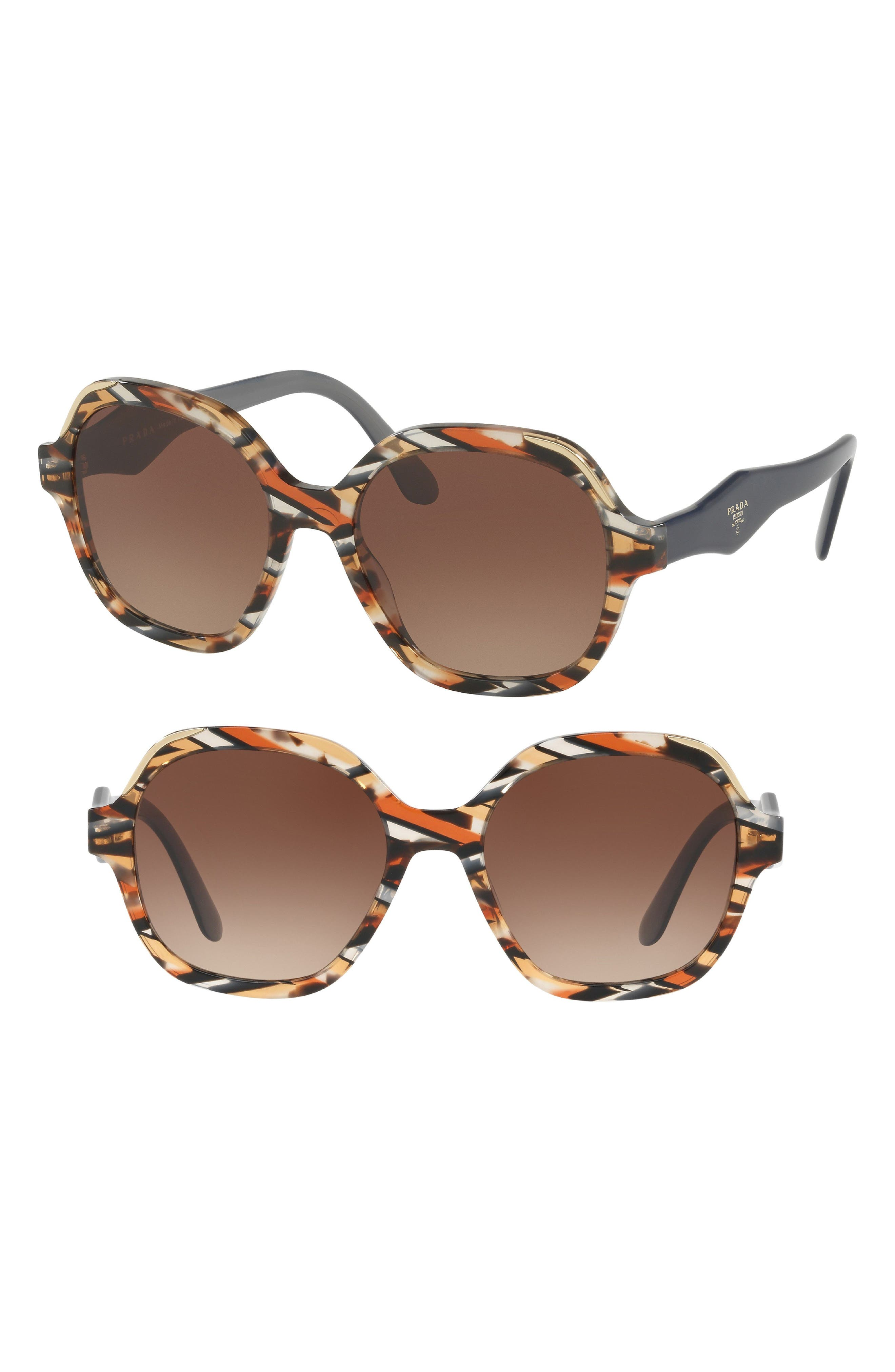 52mm Geometric Gradient Sunglasses,                             Alternate thumbnail 4, color,