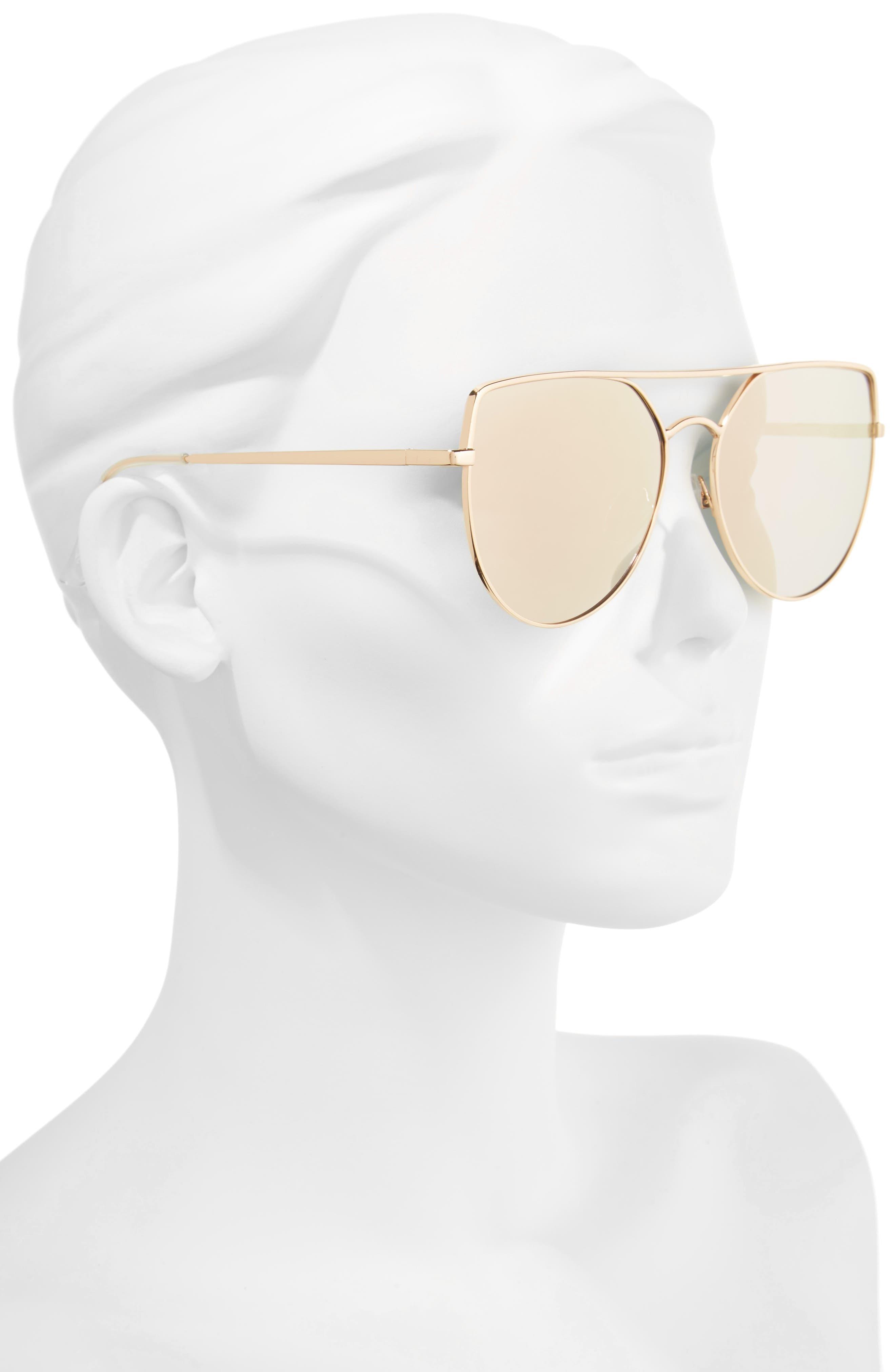 60mm Aviator Sunglasses,                             Alternate thumbnail 2, color,                             220