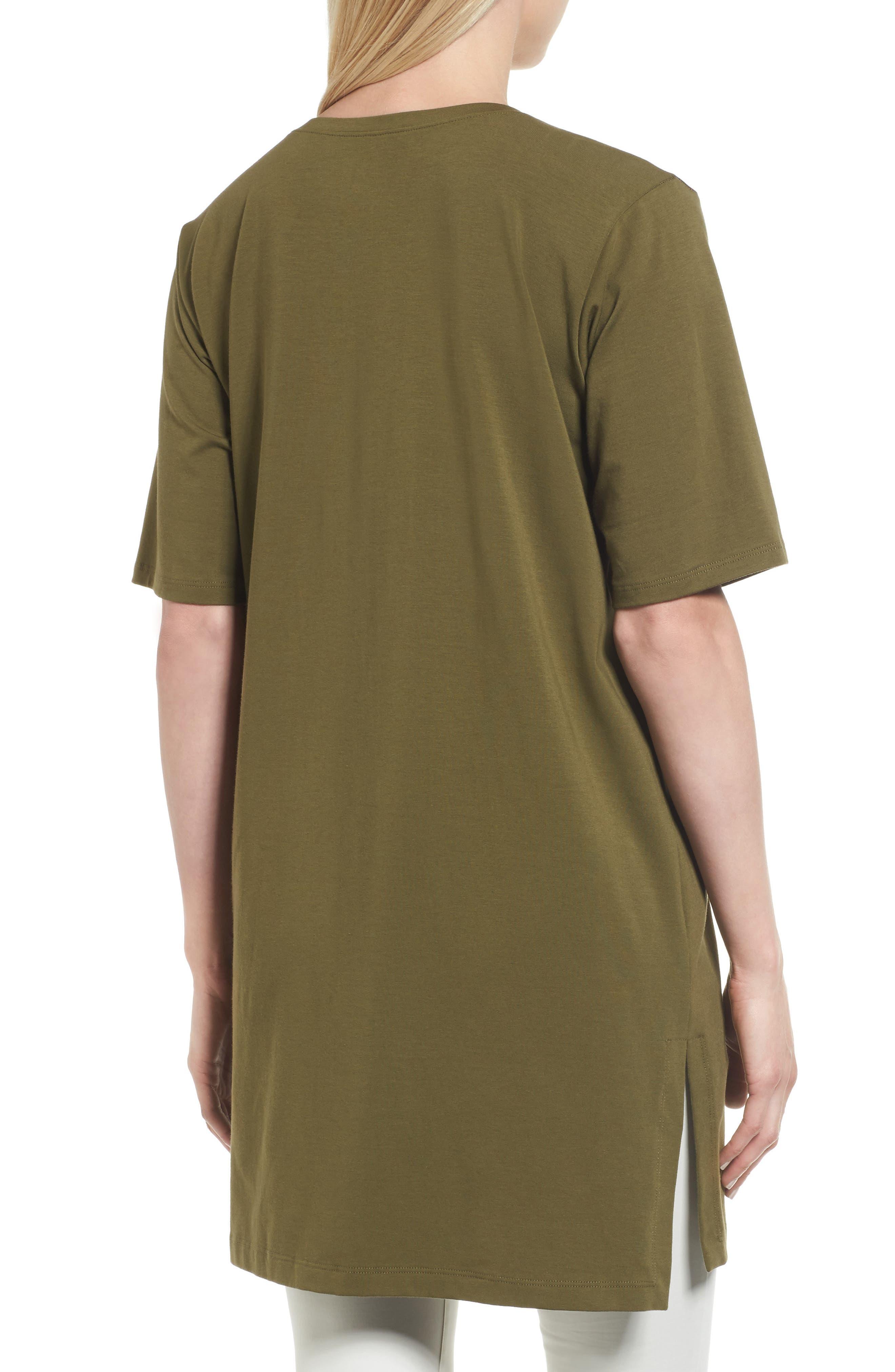 Stretch Organic Cotton Jersey Tunic,                             Alternate thumbnail 12, color,