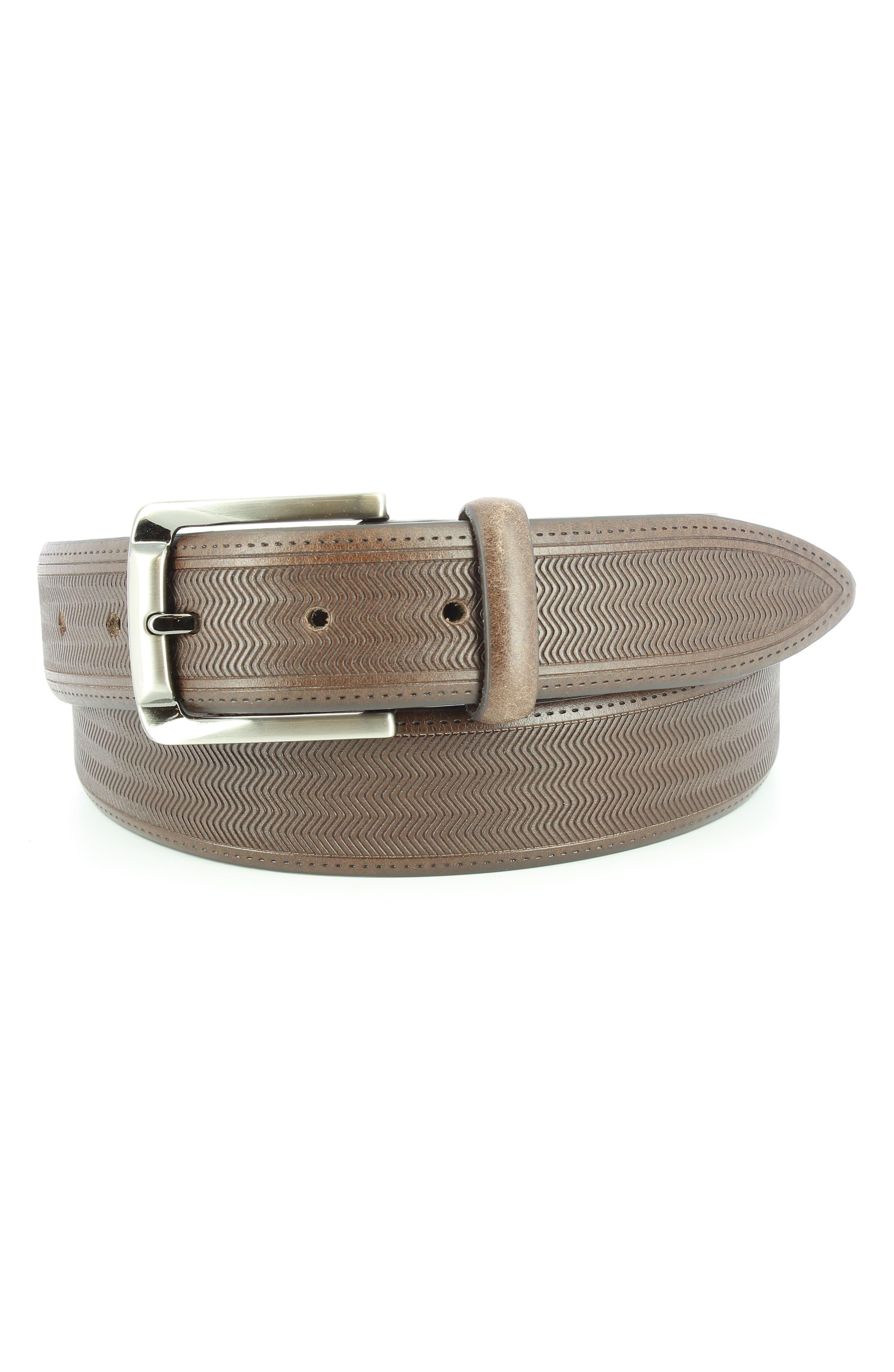 Raspail Leather Belt,                         Main,                         color, BROWN