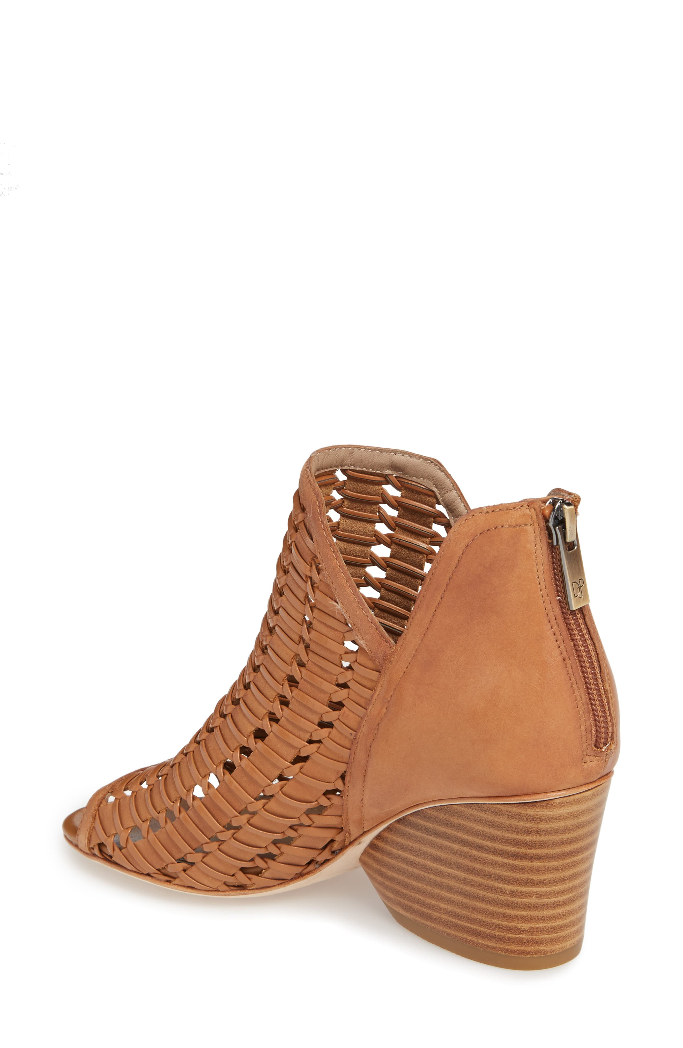 Jacqi Woven Open Toe Bootie,                             Alternate thumbnail 4, color,