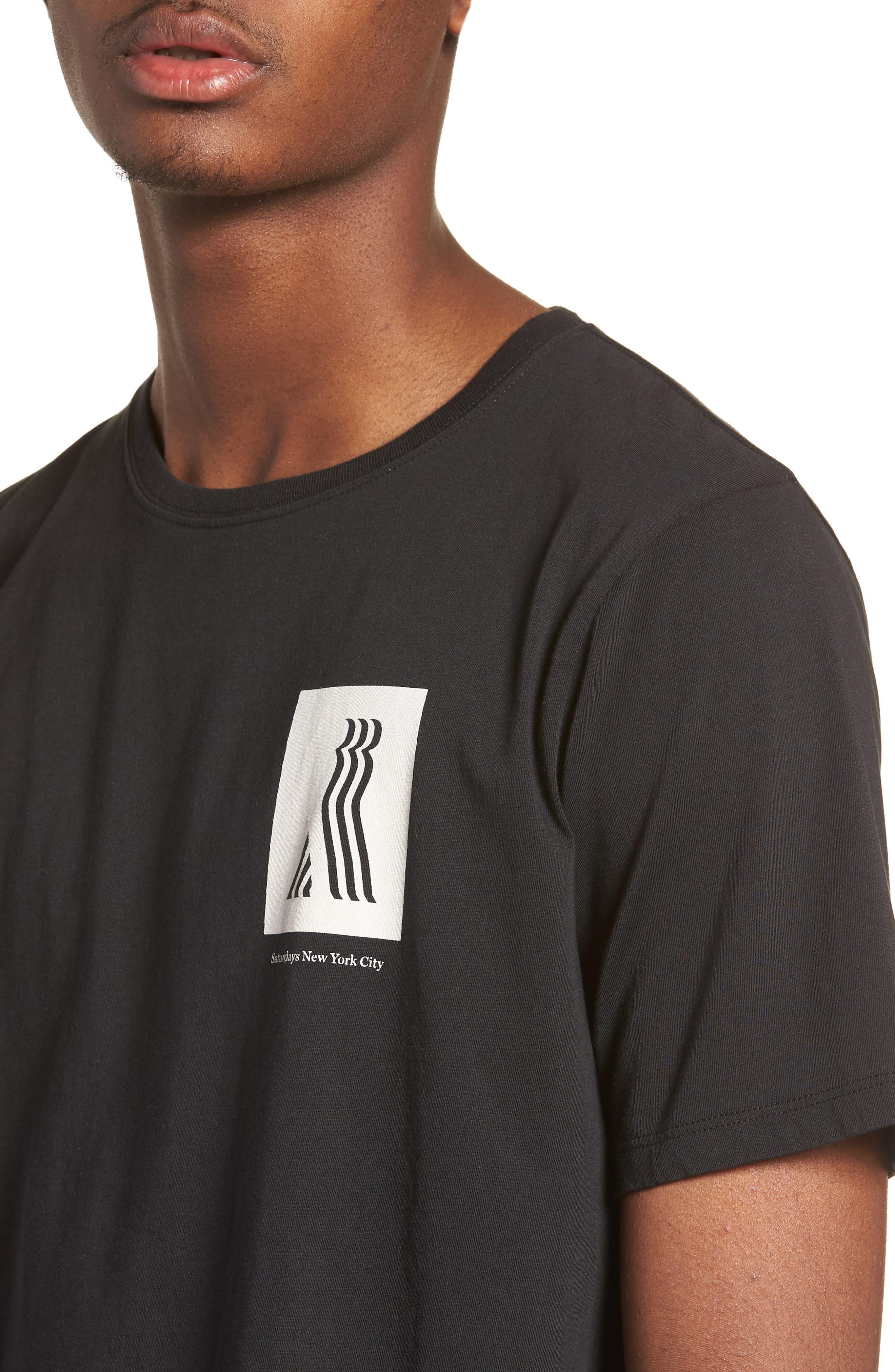 Walking Man T-Shirt,                             Alternate thumbnail 4, color,                             BLACK