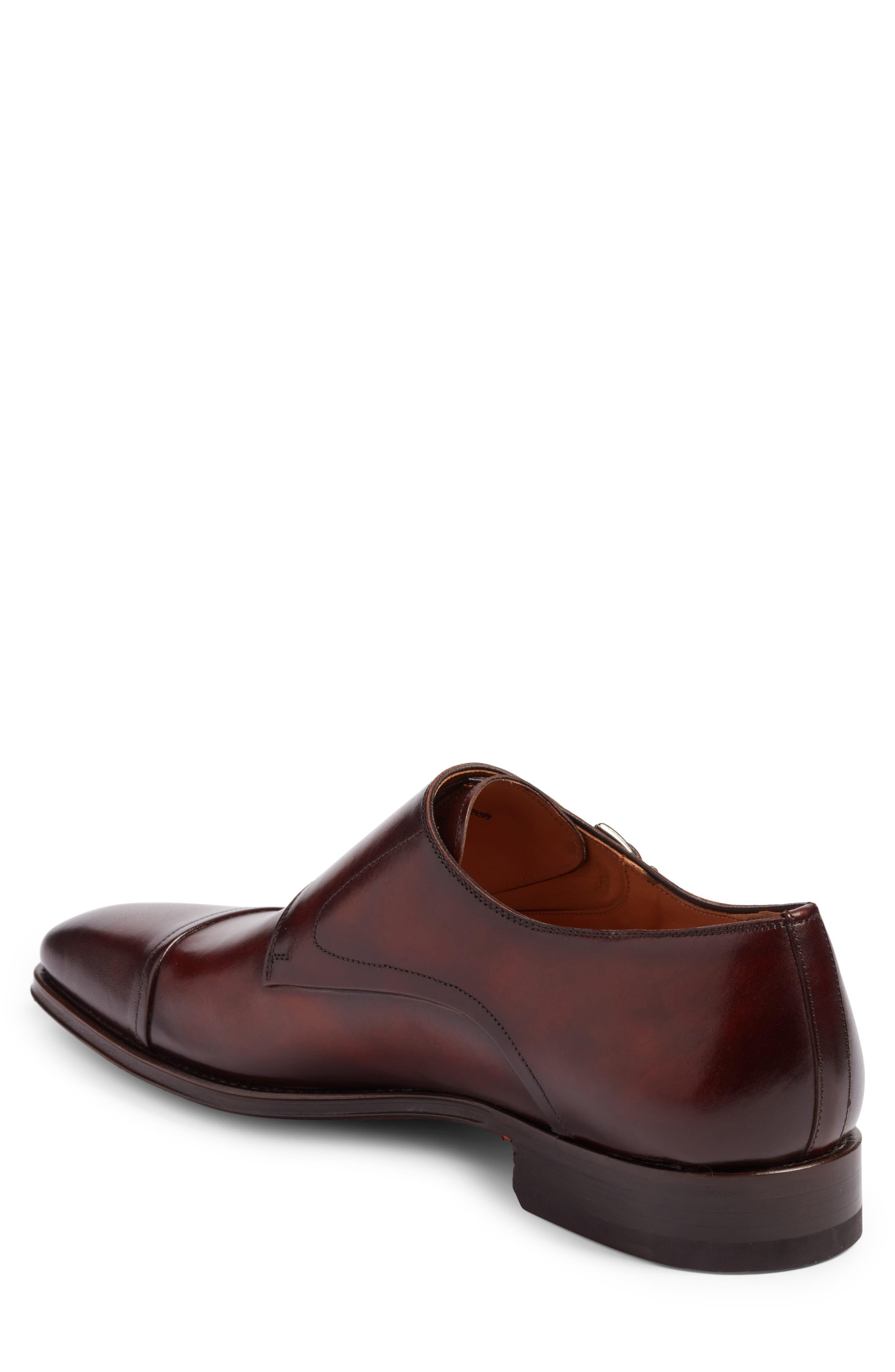Silvio Double Monk Strap Shoe,                             Alternate thumbnail 2, color,                             TOBACCO LEATHER