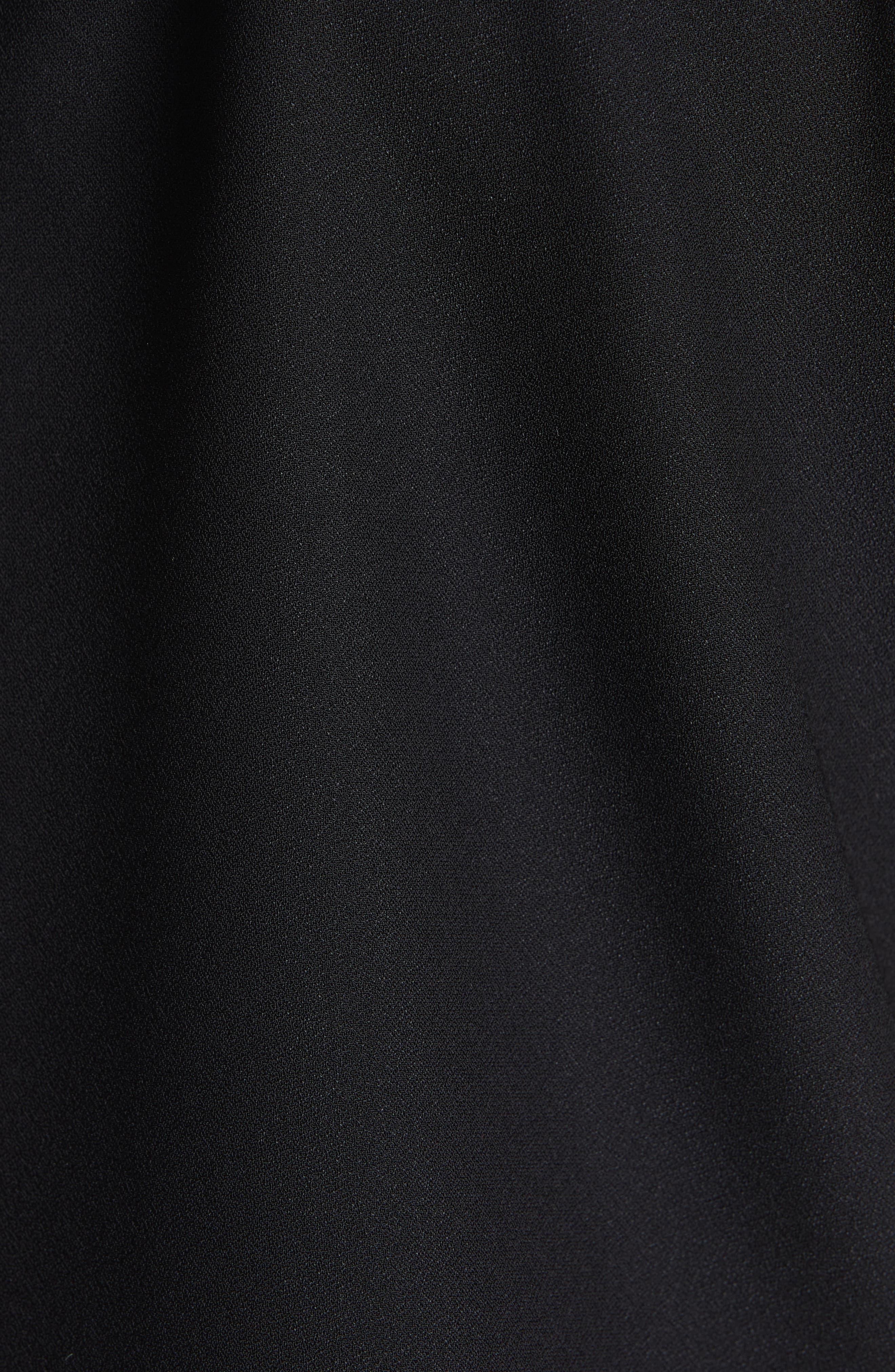 Jaylen Embellished Collar Top,                             Alternate thumbnail 5, color,                             BLACK