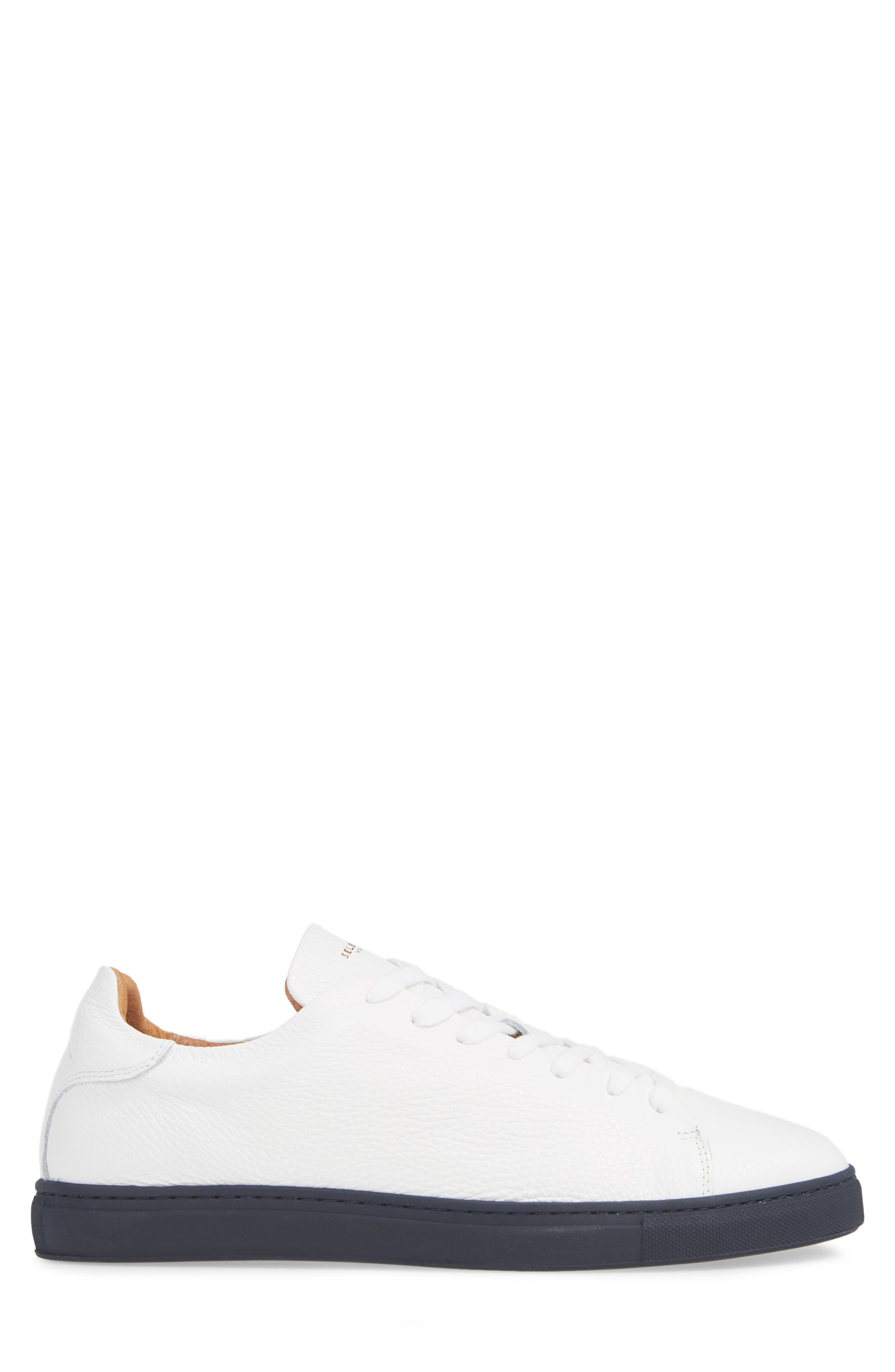 David Sneaker,                             Alternate thumbnail 3, color,                             WHITE/ DARK NAVY SOLE
