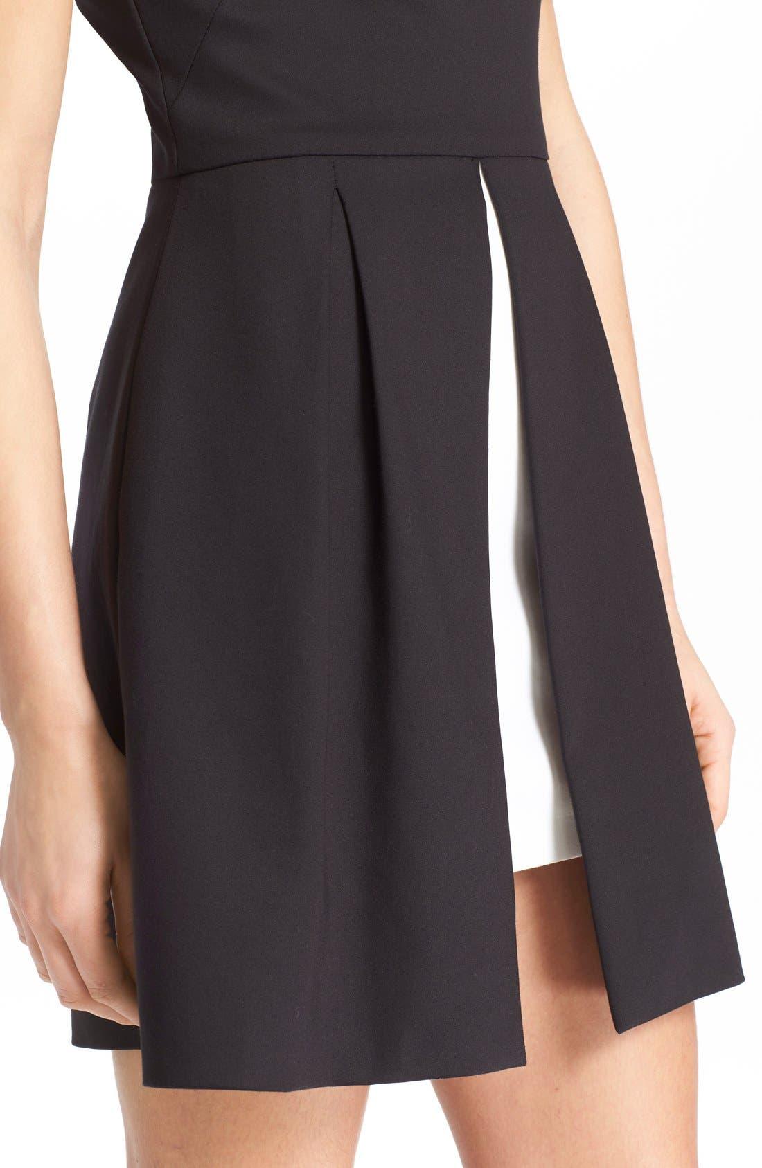 'Bria' Peplum Fit & Flare Dress,                             Alternate thumbnail 5, color,                             009