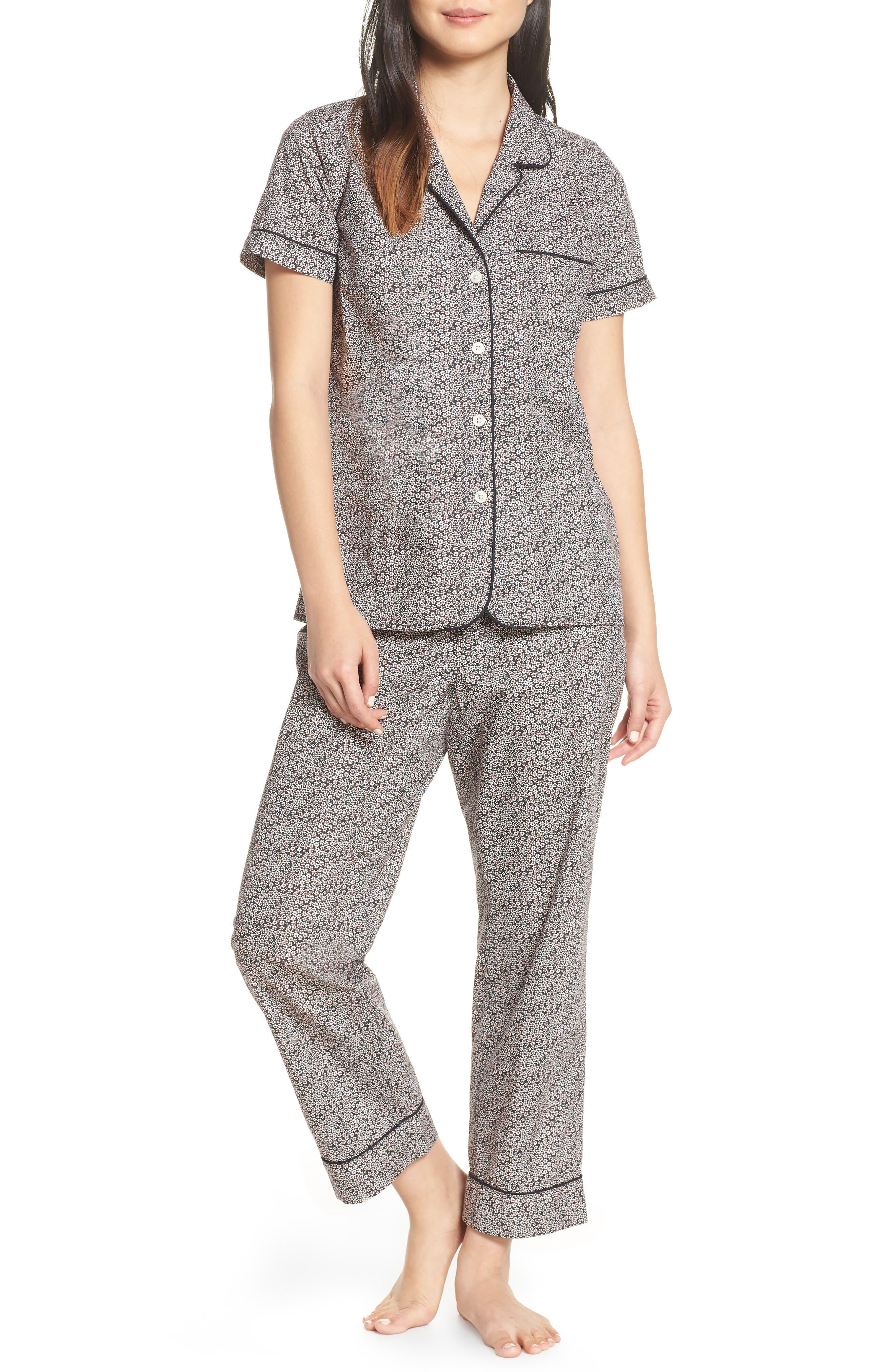 J.crew Ditsy Dot Short Sleeve Pajama Set, Black
