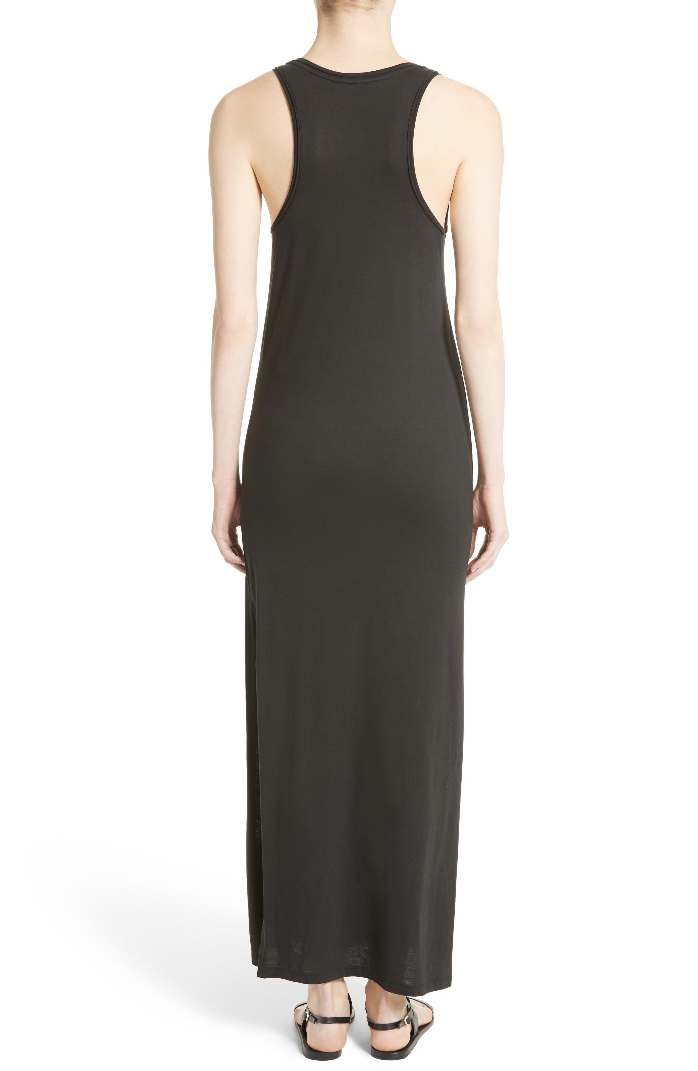 Sameetha Plume Jersey Maxi Dress,                             Alternate thumbnail 2, color,                             001
