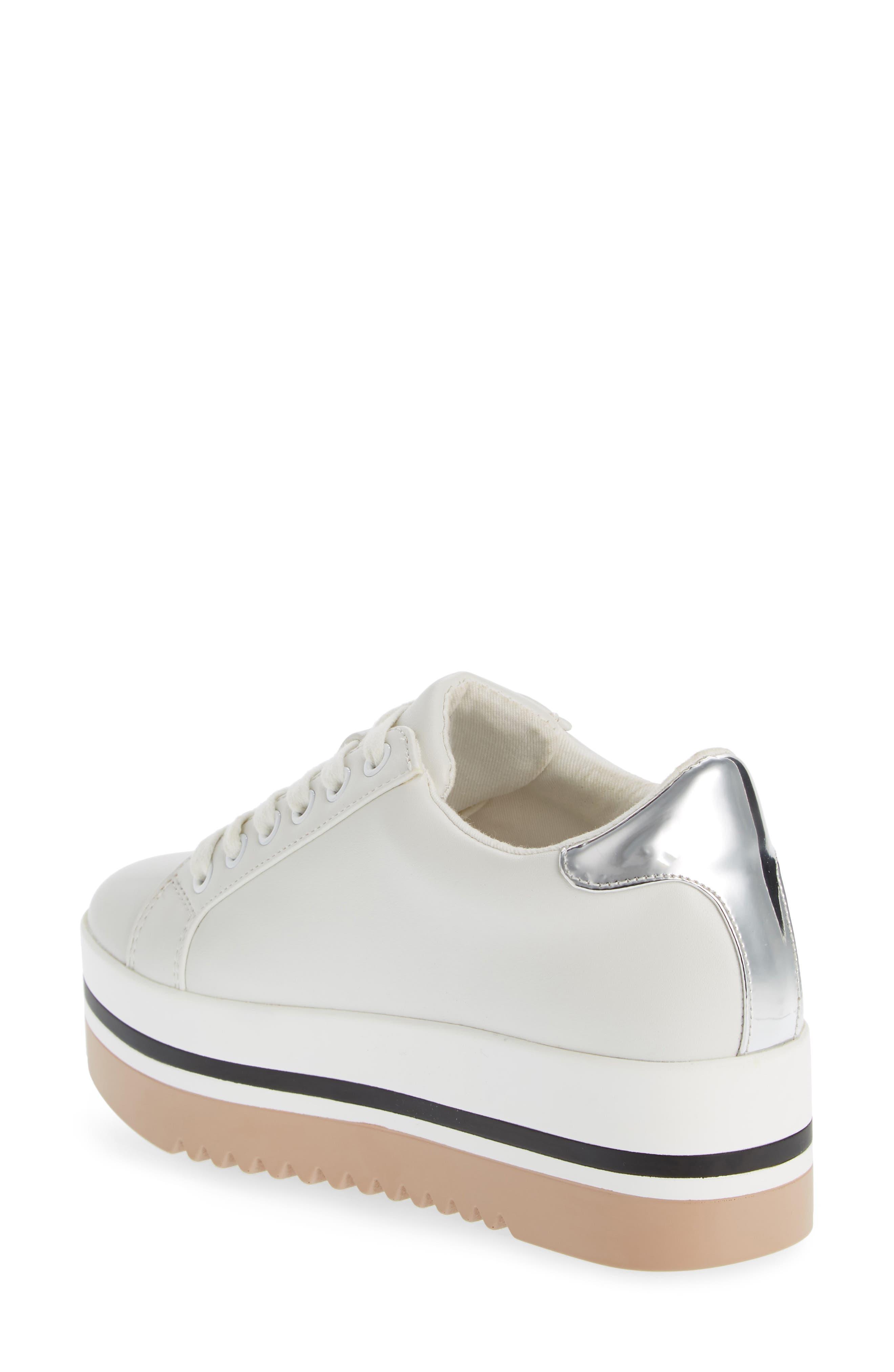 Alley Platform Sneaker,                             Alternate thumbnail 2, color,                             WHITE