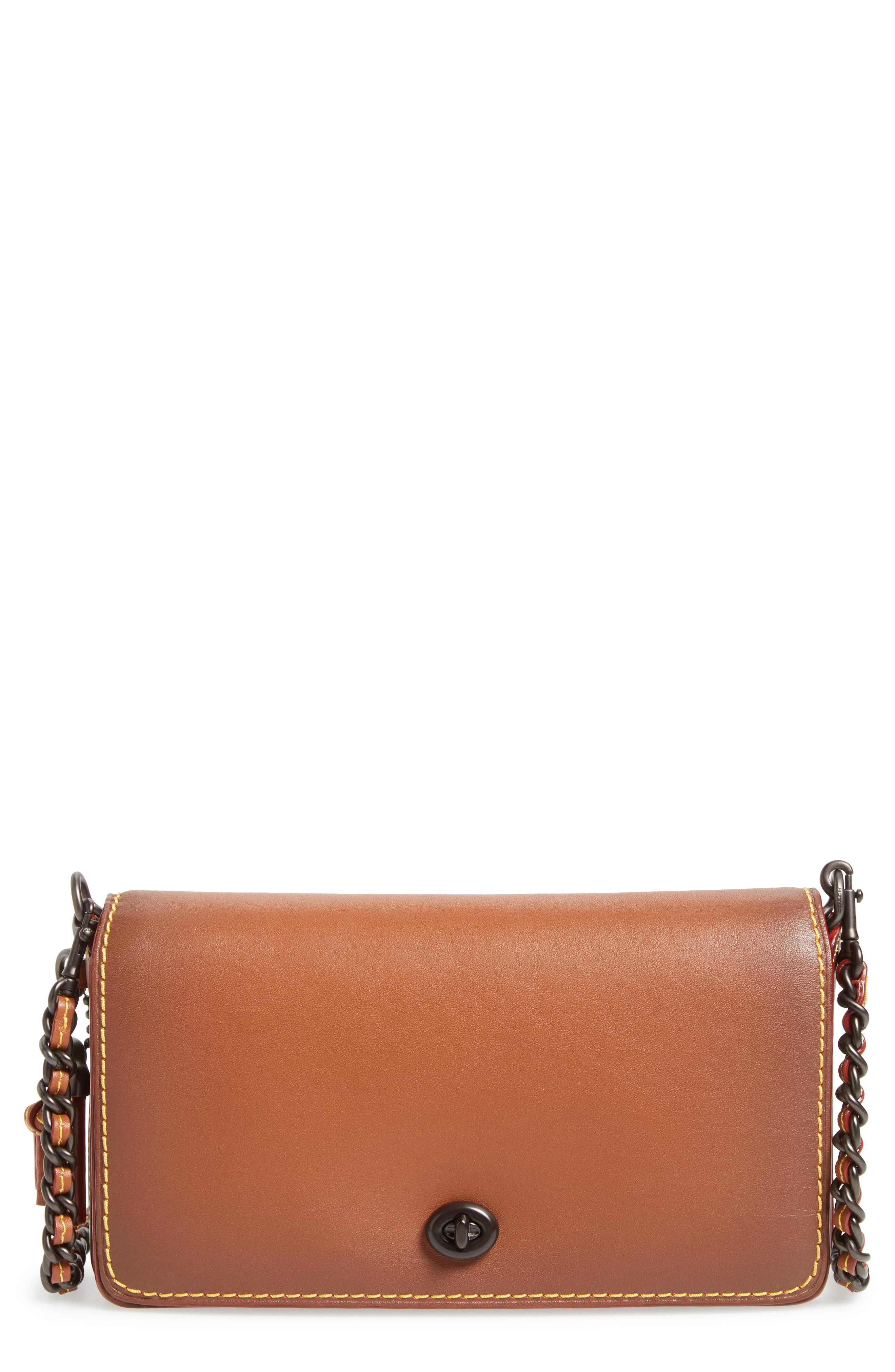 'Dinky' Leather Crossbody Bag,                             Main thumbnail 2, color,