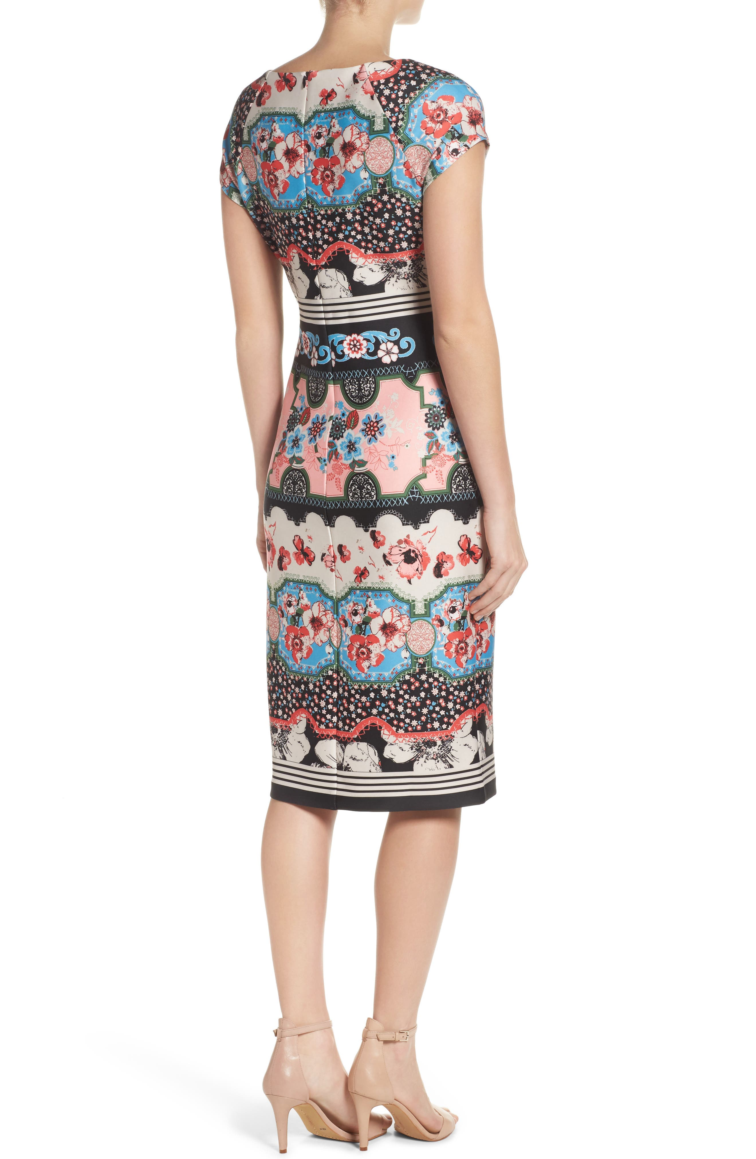 Scuba Sheath Dress,                             Alternate thumbnail 2, color,                             688