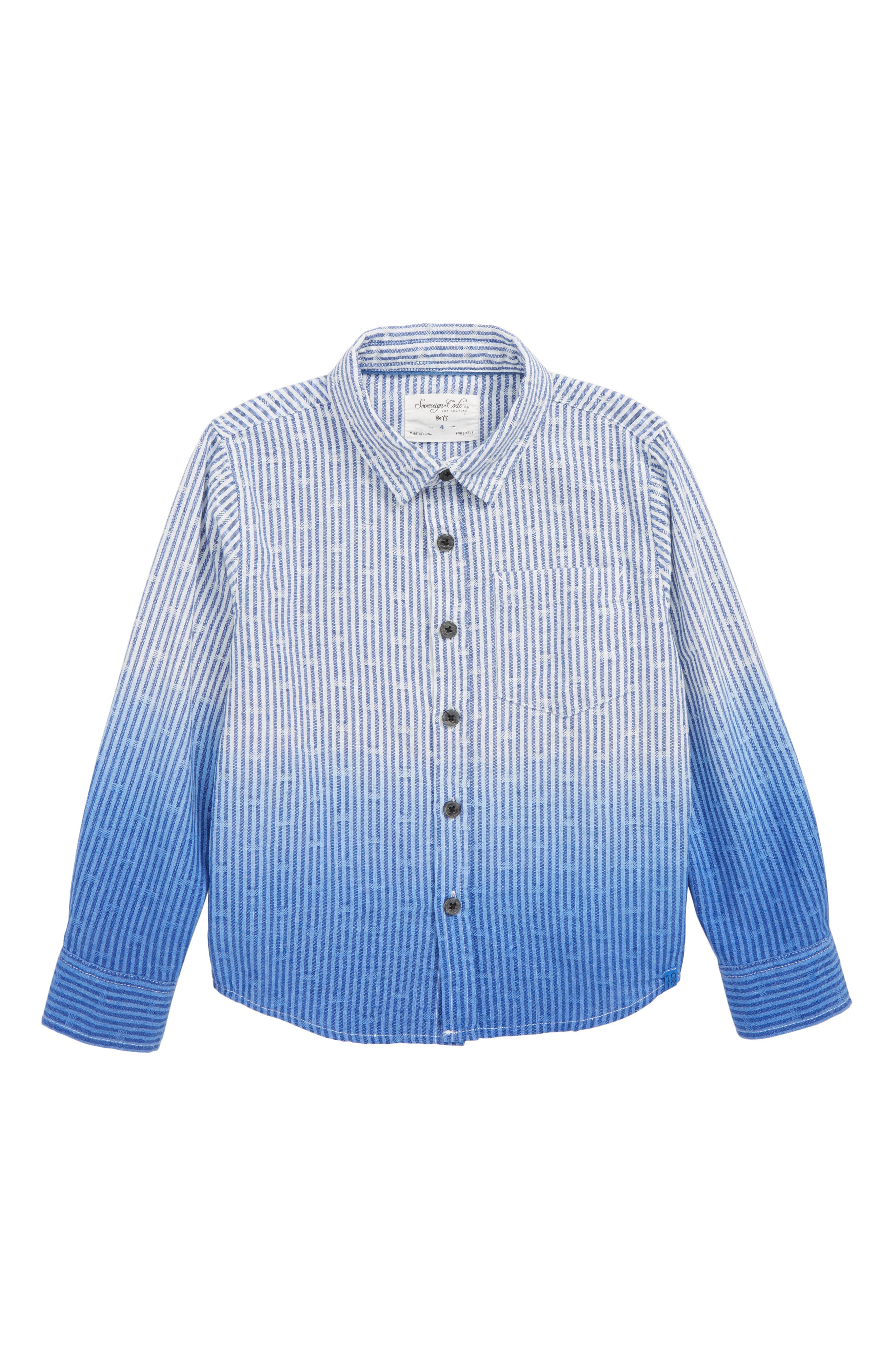 Capitola Shirt,                         Main,                         color, BLUE STRIPE